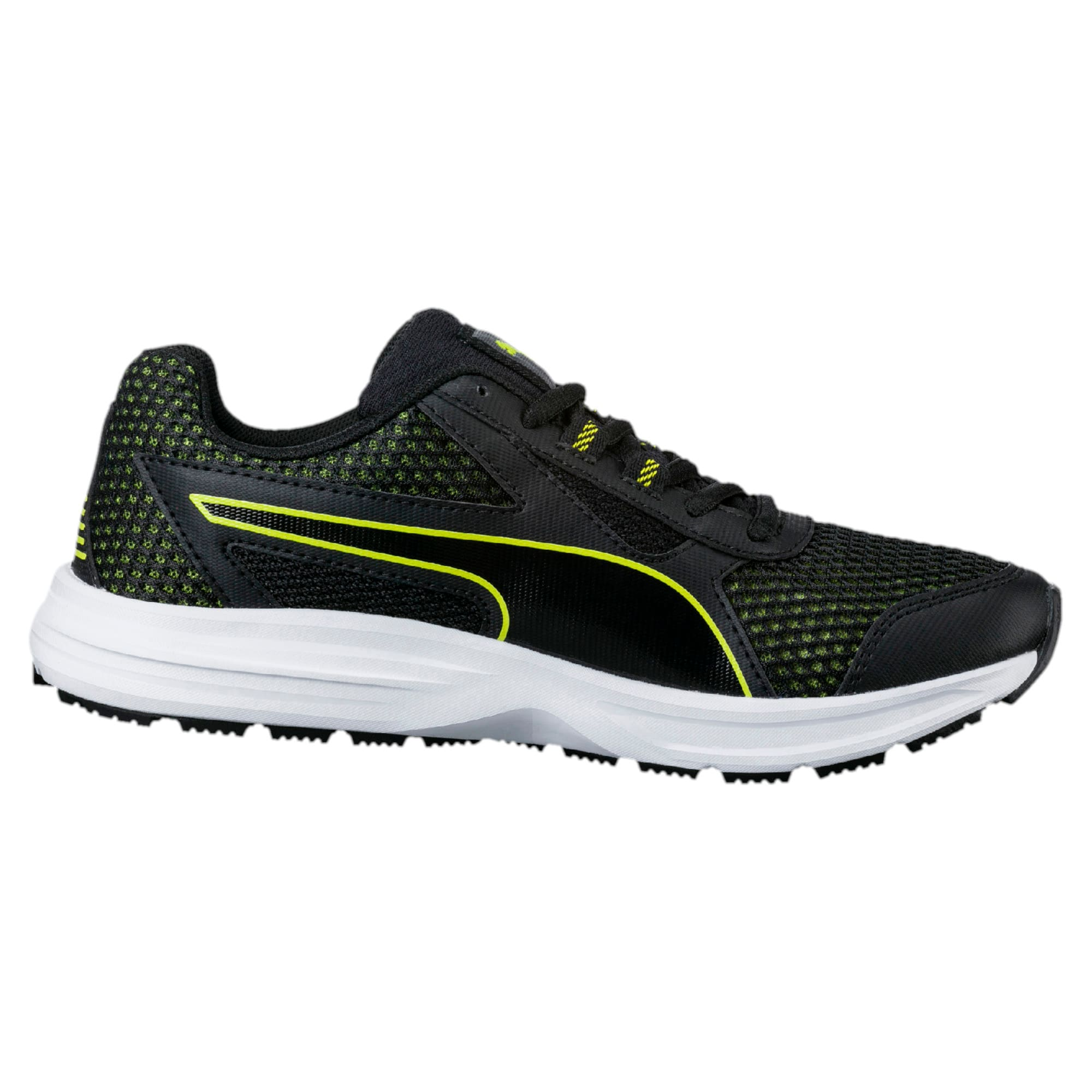 Thumbnail 5 of Essential Runner Kids' Running Shoes, Puma Black-Nrgy Yellow, medium-IND