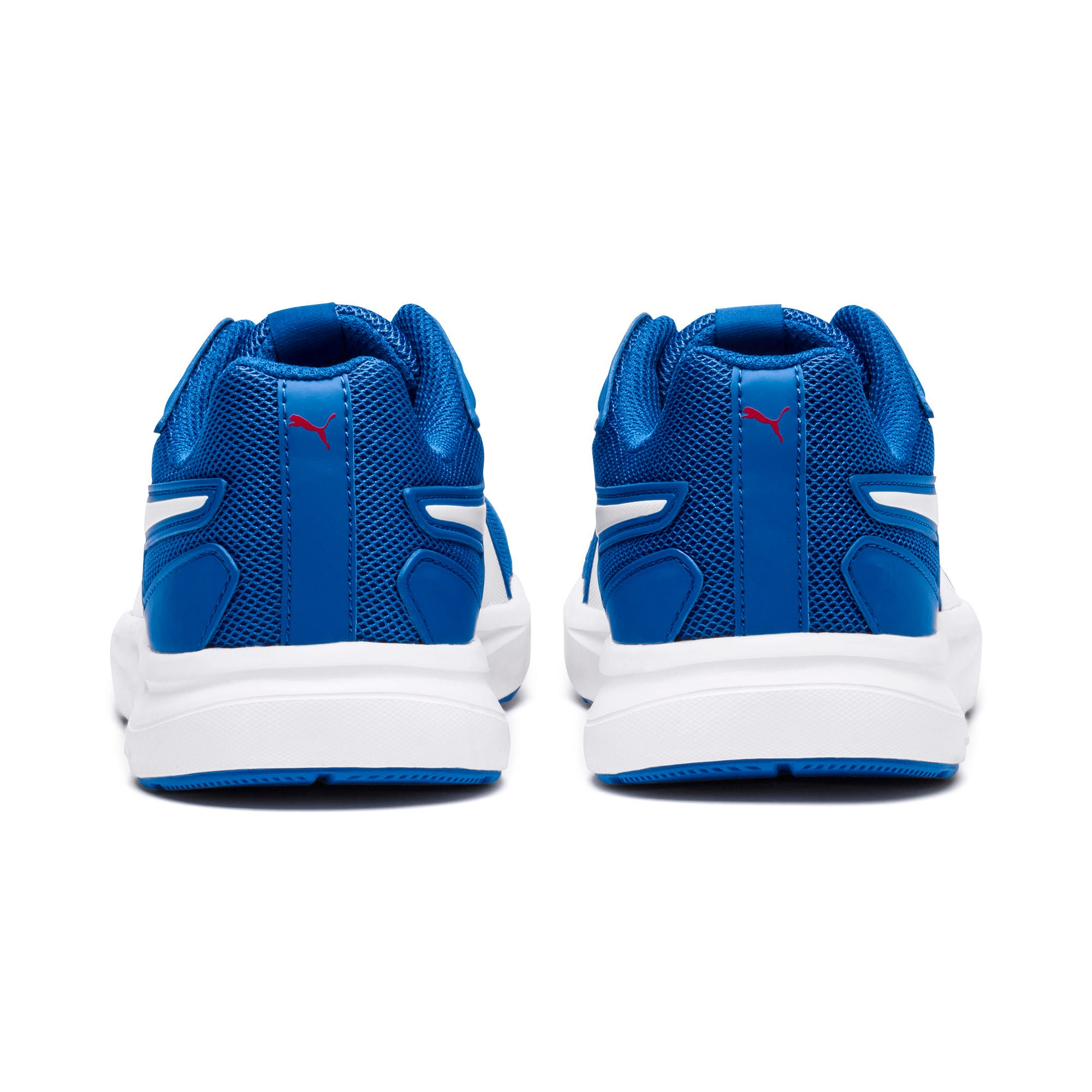 Thumbnail 3 of Escaper Mesh Kids' Trainers, Blue- White-Ribbon Red, medium-IND