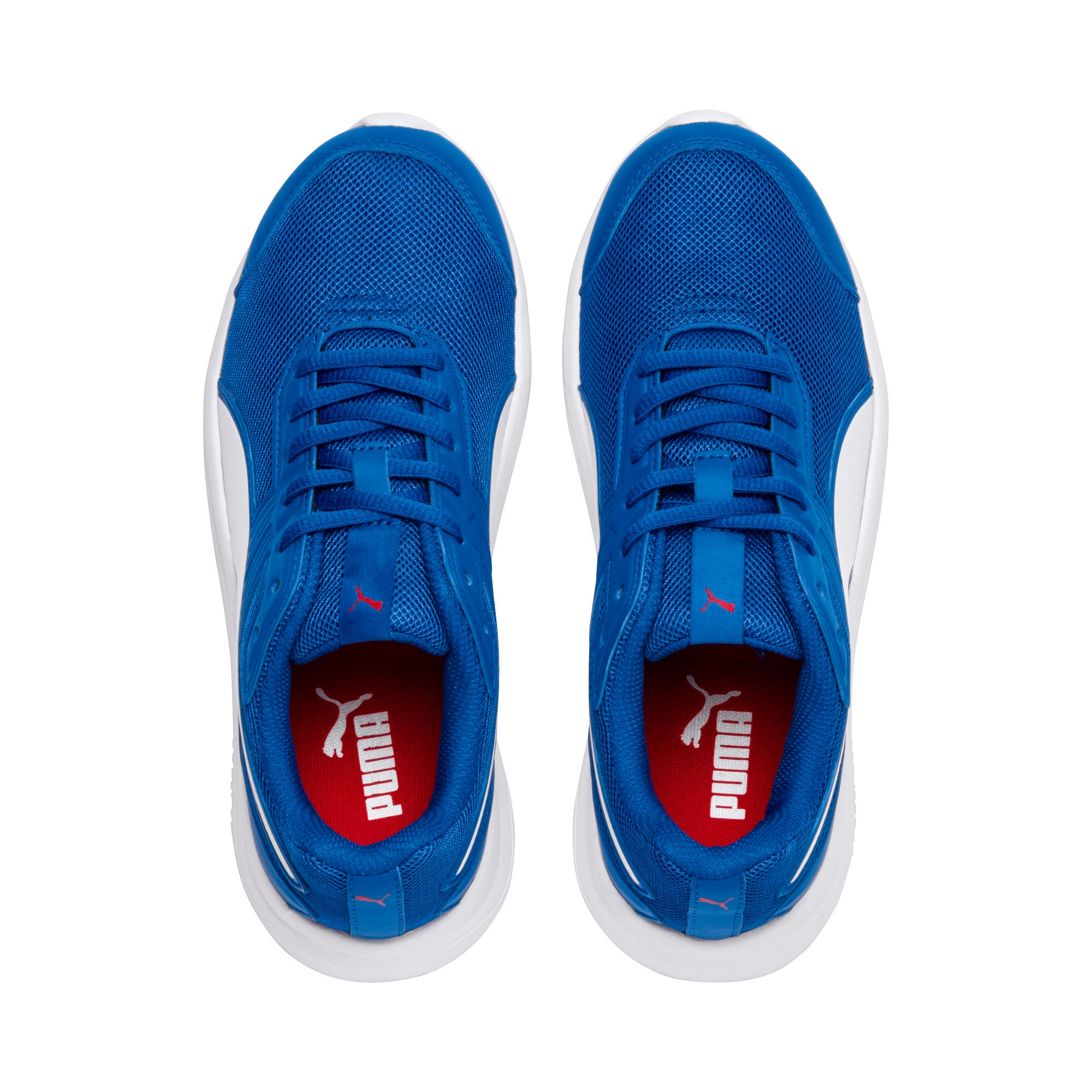 Thumbnail 6 of Escaper Mesh Kids' Trainers, Blue- White-Ribbon Red, medium-IND