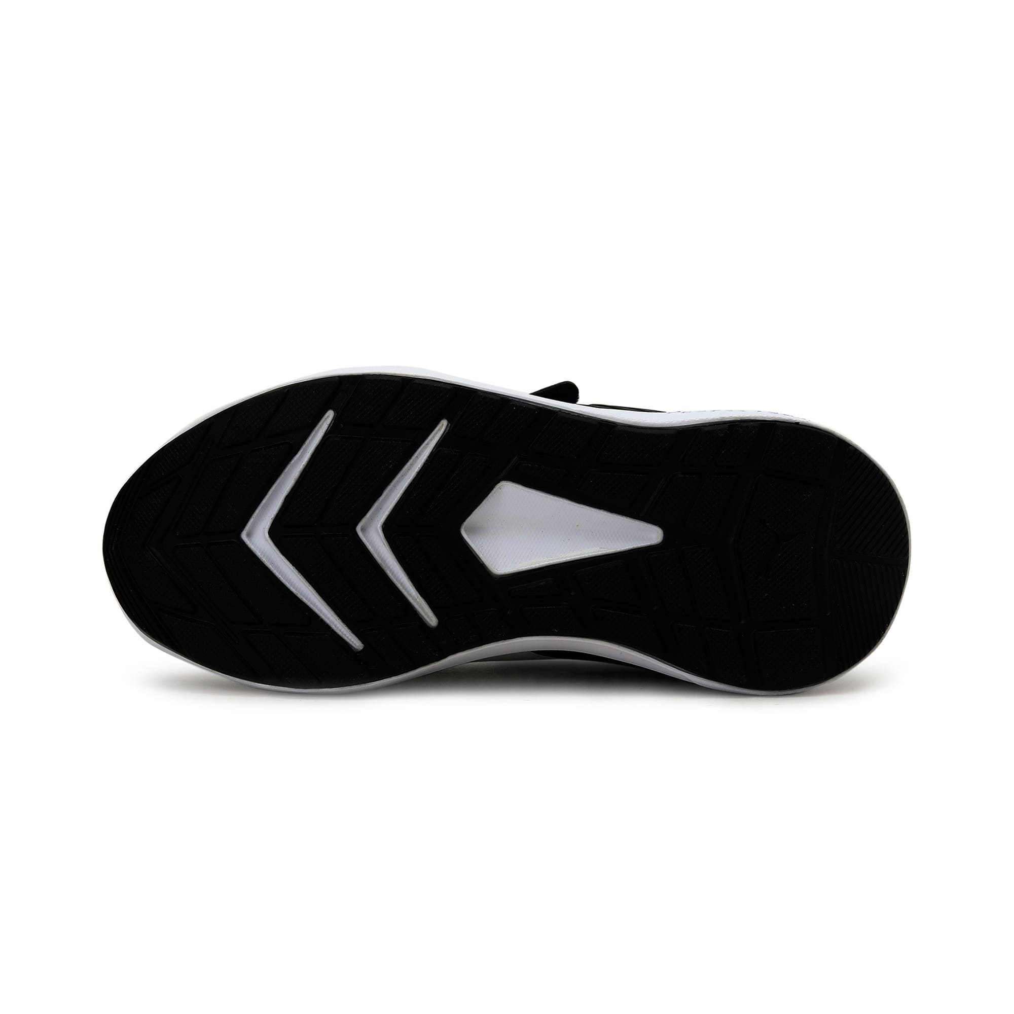 Thumbnail 4 of Escaper Mesh V Preschool Training Shoes, Black-White-Firecracker, medium-IND