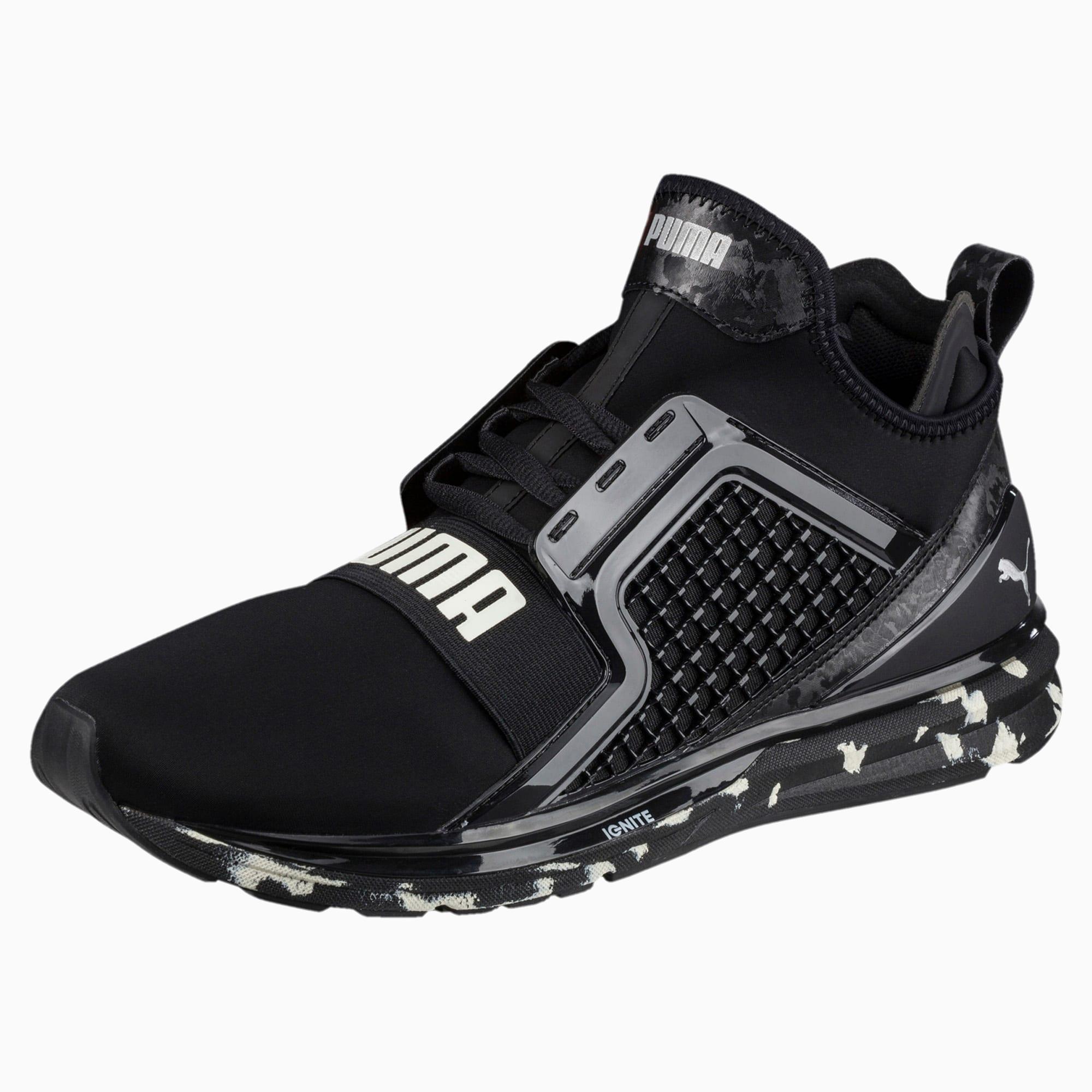 Puma Ignite Limitless Swirl Black Mens Athletic Running Shoes