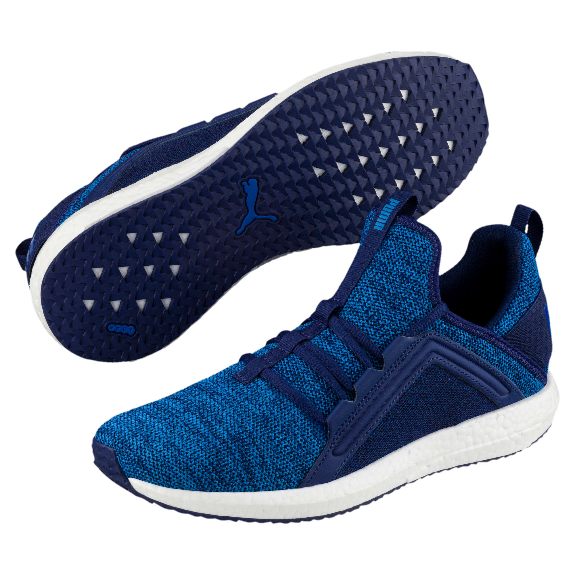 Thumbnail 2 of Mega NRGY Knit Men's Trainers, Blue Depths-Lapis Blue, medium-IND