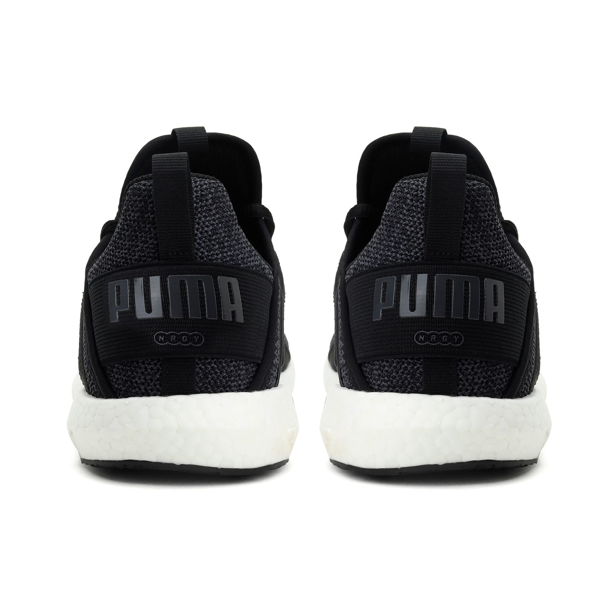 Thumbnail 3 of Mega NRGY Knit Women's Trainers, Puma Black-Asphalt, medium-IND