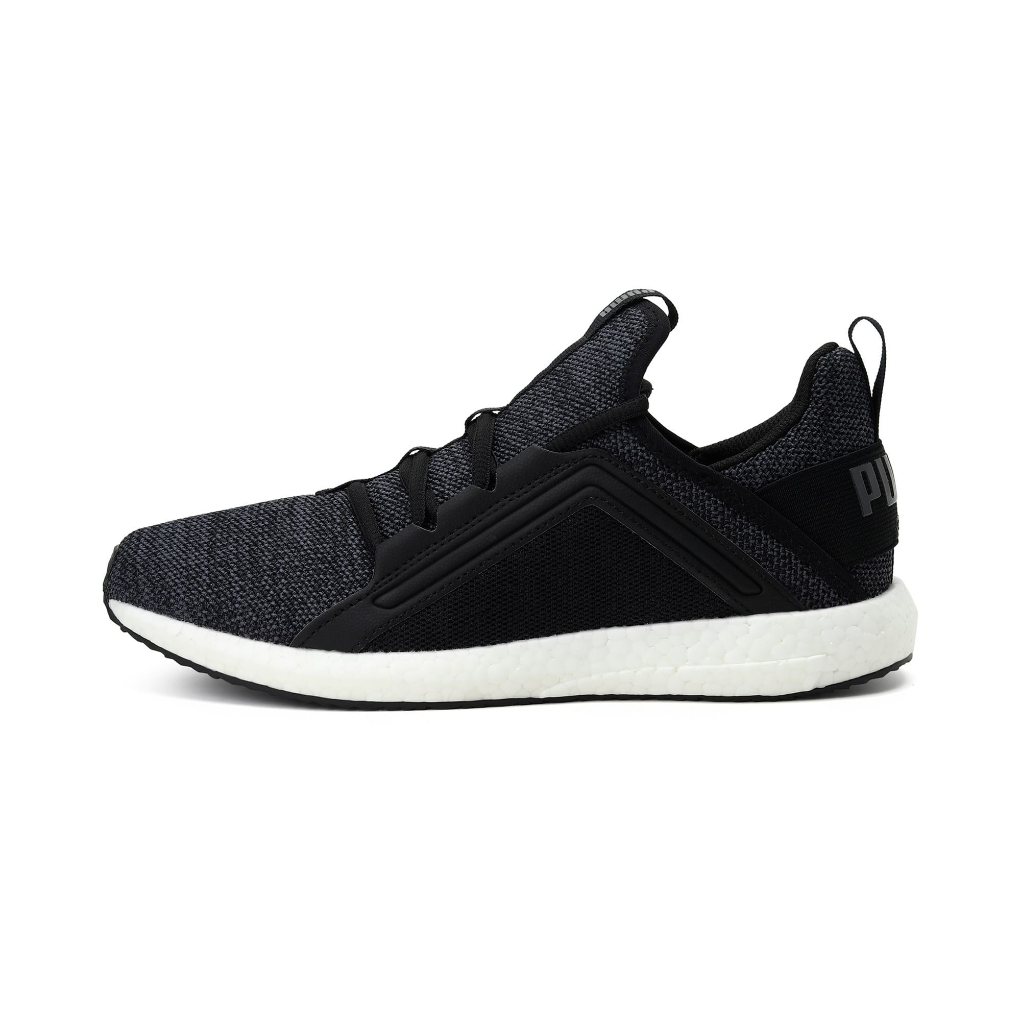 Thumbnail 1 of Mega NRGY Knit Women's Trainers, Puma Black-Asphalt, medium-IND