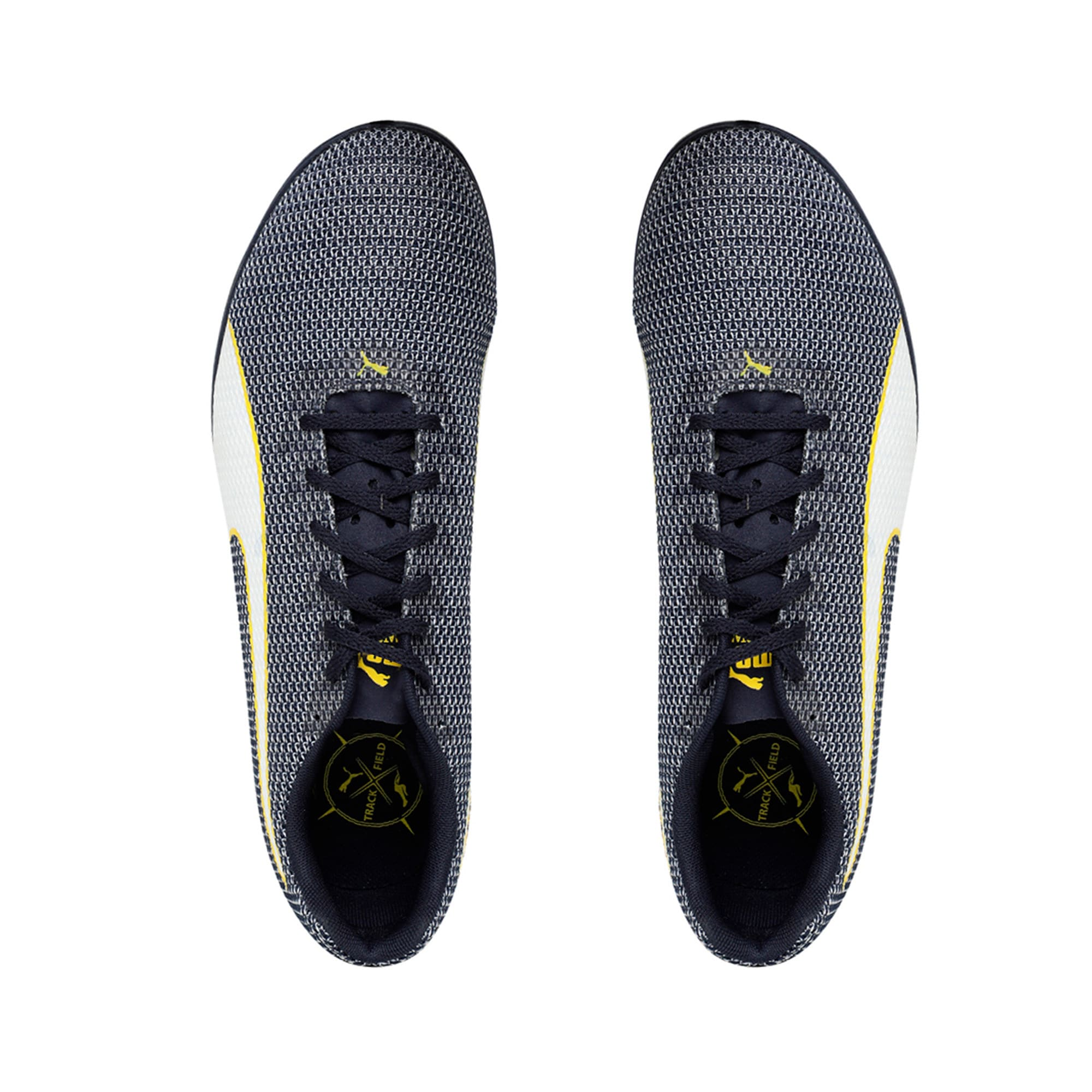 Thumbnail 3 of evoSPEED Distance 8 Men's Running Shoes, Peacoat-Blazing Yellow, medium-IND