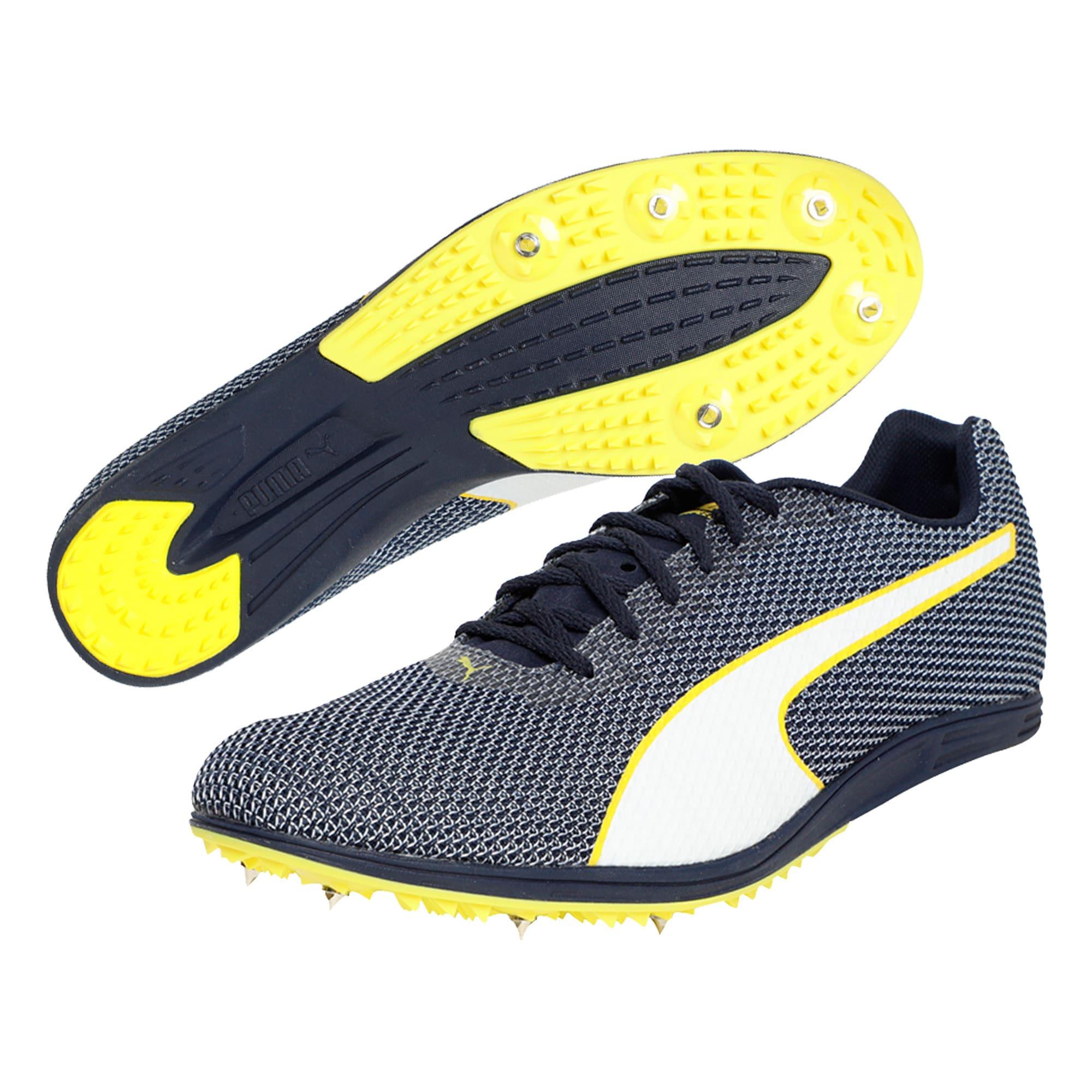 Thumbnail 2 of evoSPEED Distance 8 Men's Running Shoes, Peacoat-Blazing Yellow, medium-IND