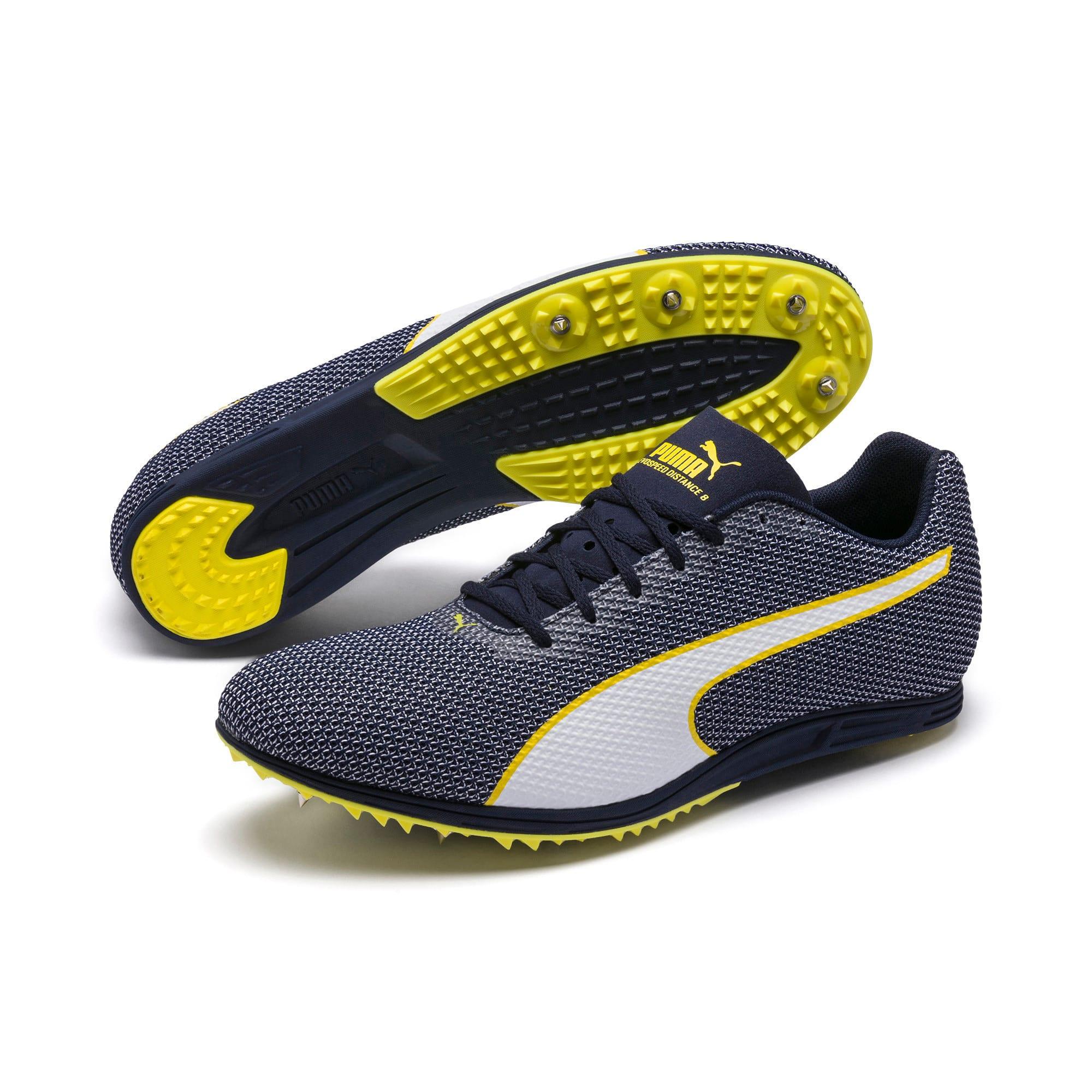 Thumbnail 6 of evoSPEED Distance 8 Men's Running Shoes, Peacoat-Blazing Yellow, medium-IND