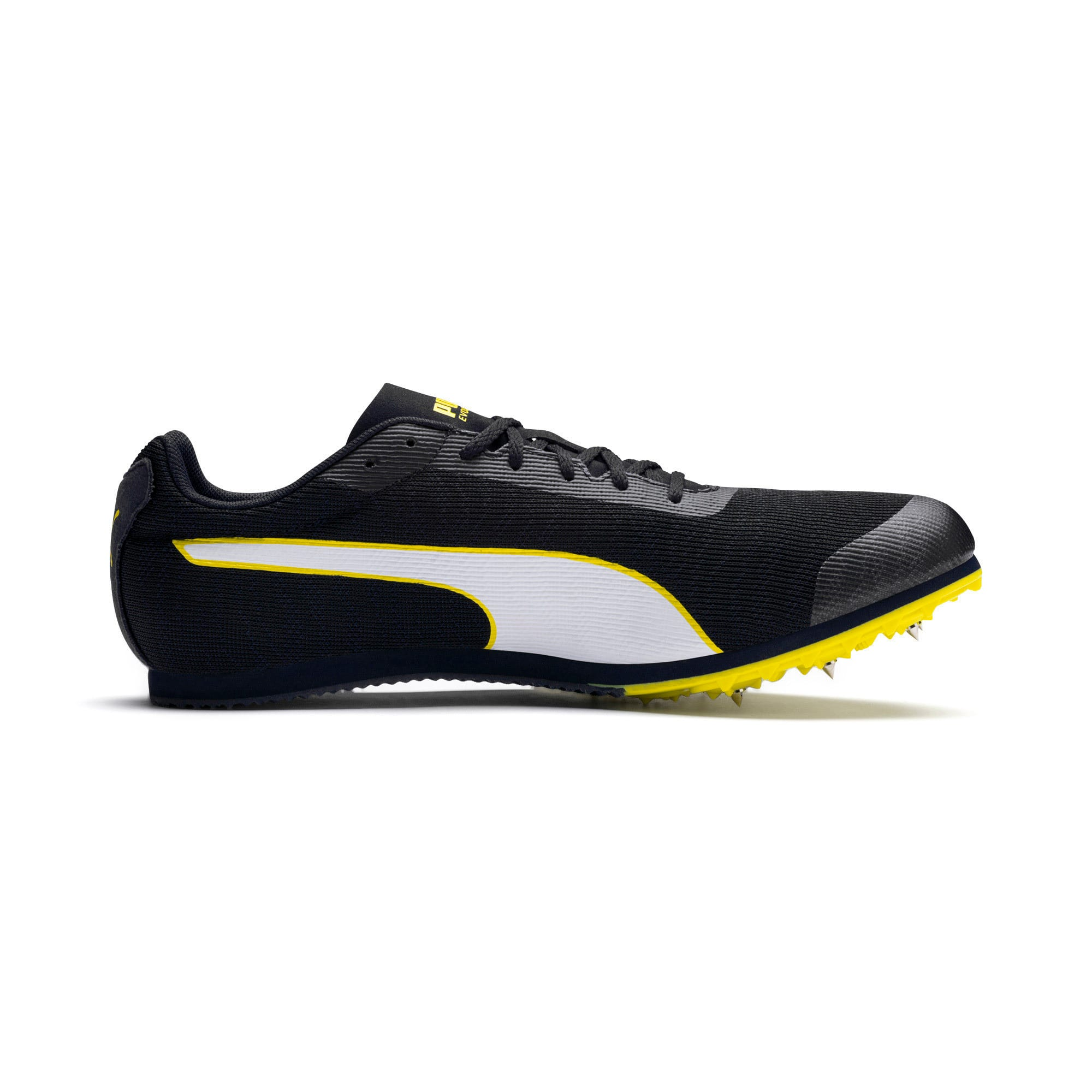 evoSPEED Star 6 Men's Track & Field Boots, Peacoat-Puma Black-Yellow, large-IND