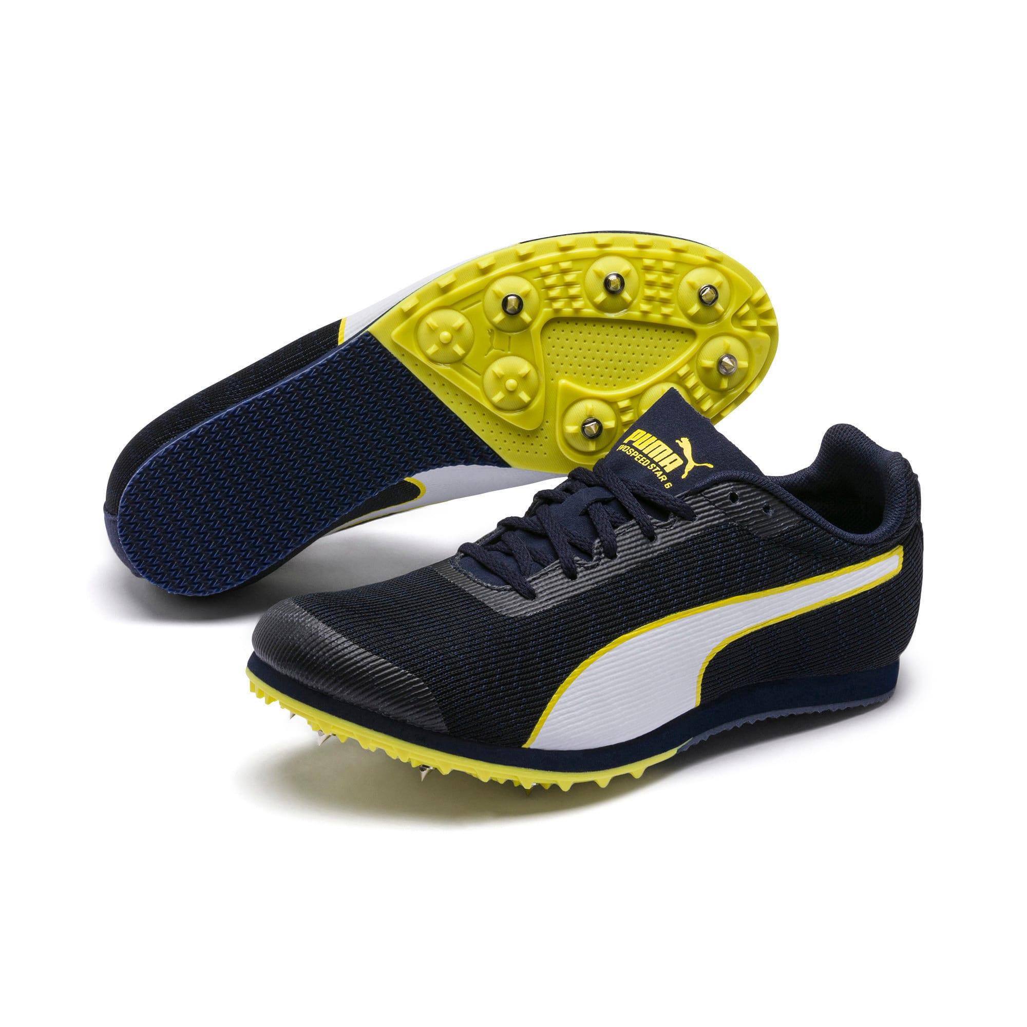 Thumbnail 2 of evoSPEED Star 6 Kids' Running Shoes, Peacoat-Puma Black-Yellow, medium-IND