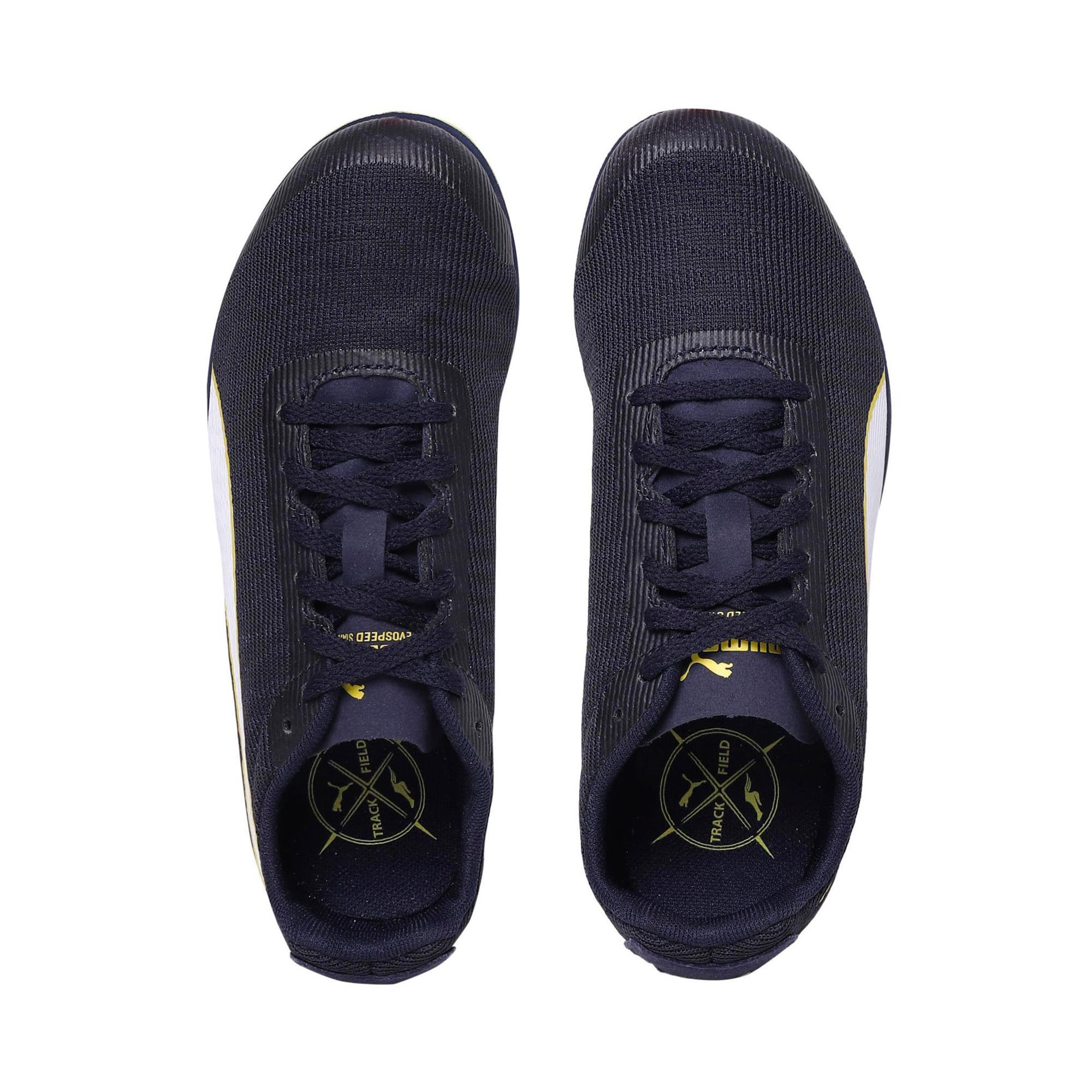 Thumbnail 6 of evoSPEED Star 6 Kids' Running Shoes, Peacoat-Puma Black-Yellow, medium-IND