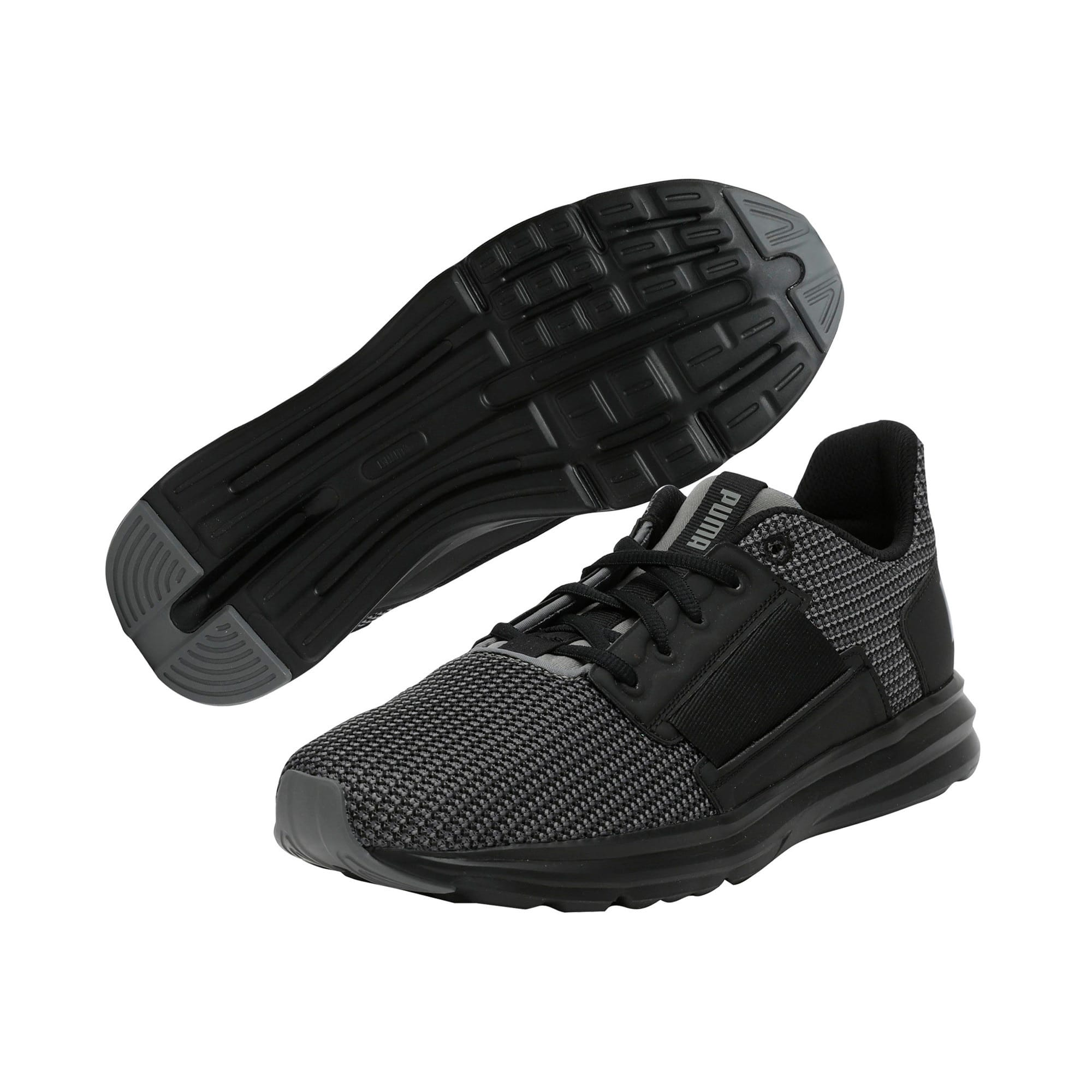 Thumbnail 3 of Enzo Street Knit Men's Running Shoes, QUIET SHADE-Puma Black, medium-IND