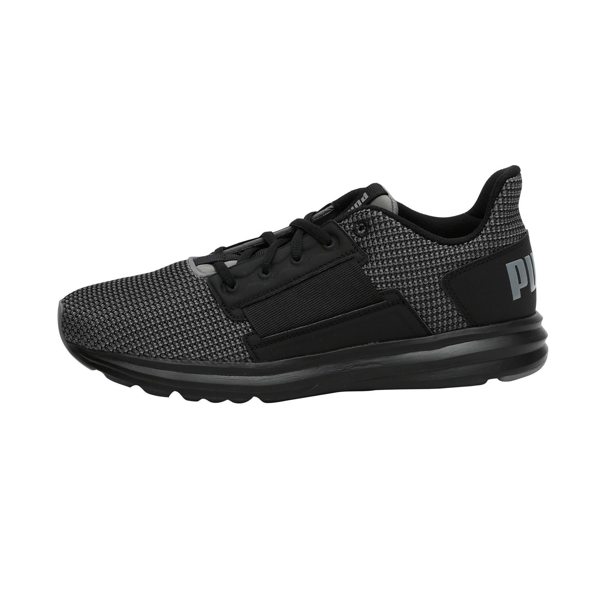 Thumbnail 1 of Enzo Street Knit Men's Running Shoes, QUIET SHADE-Puma Black, medium-IND