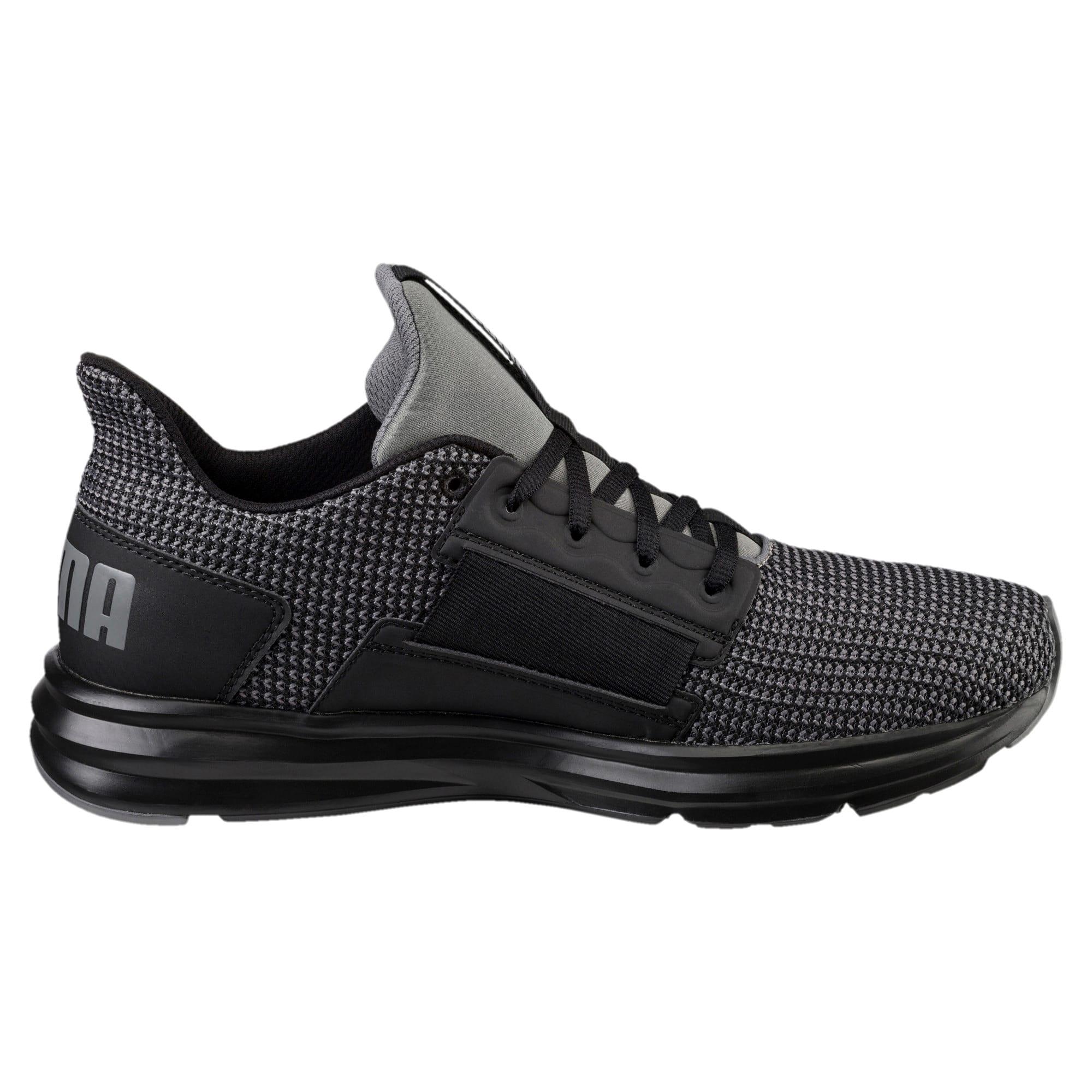 Thumbnail 4 of Enzo Street Knit Men's Running Shoes, QUIET SHADE-Puma Black, medium-IND