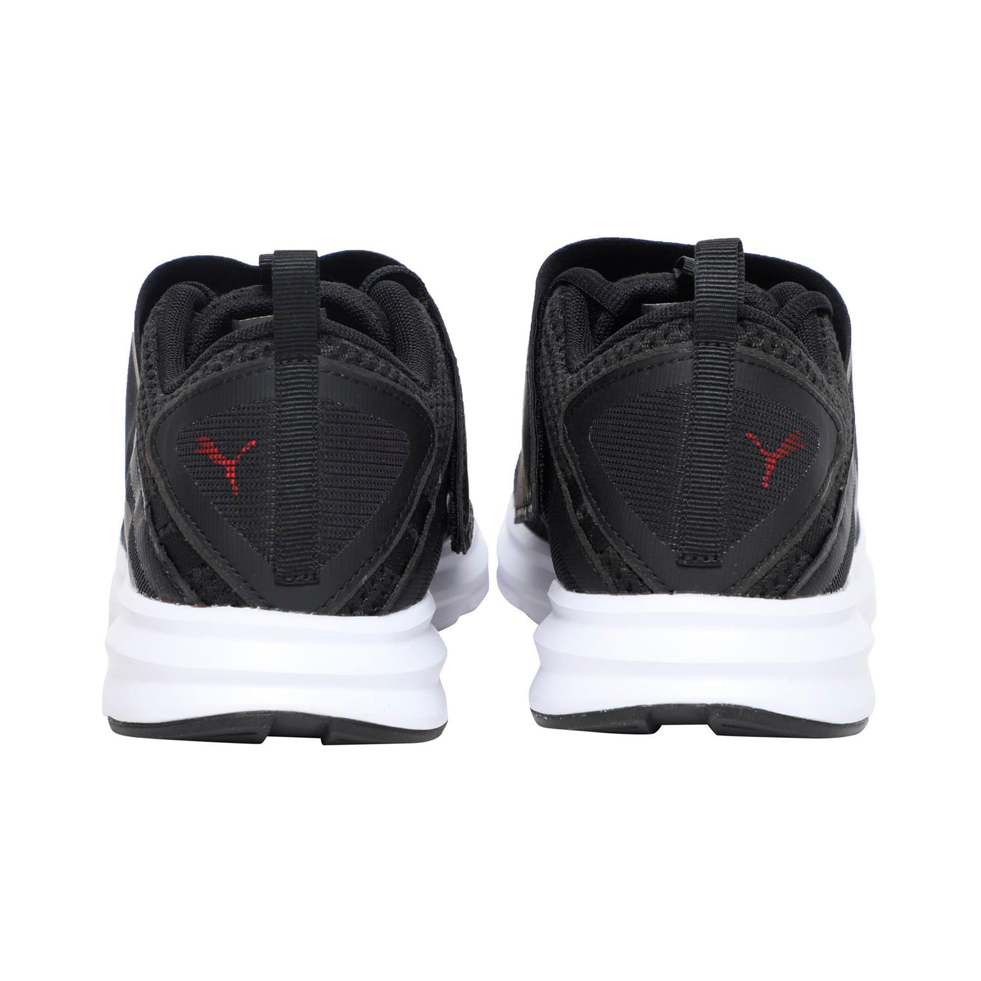 Thumbnail 3 of Enzo Strap Mesh Men's Running Shoes, Puma Black-Flame Scarlet, medium-IND