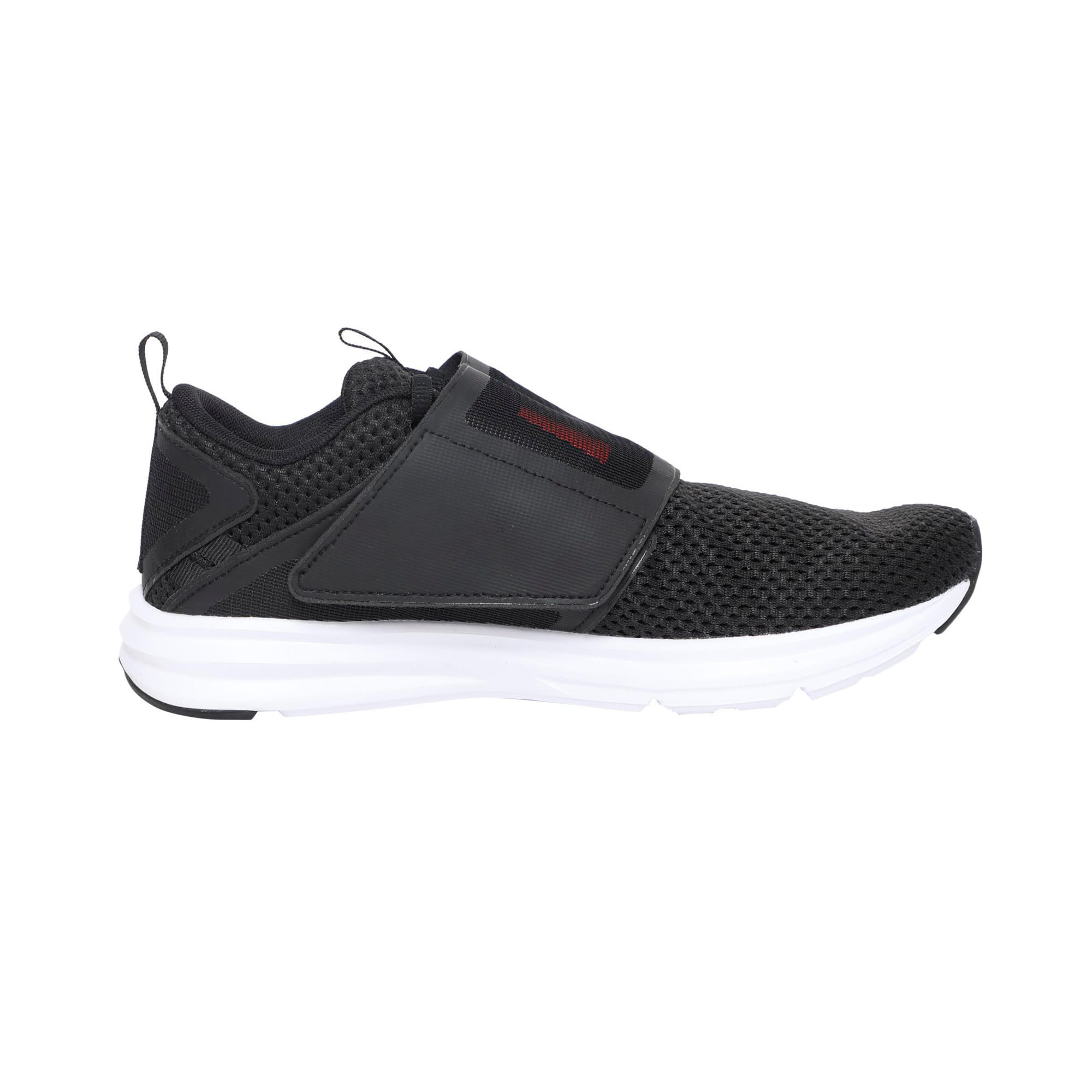 Thumbnail 5 of Enzo Strap Mesh Men's Running Shoes, Puma Black-Flame Scarlet, medium-IND