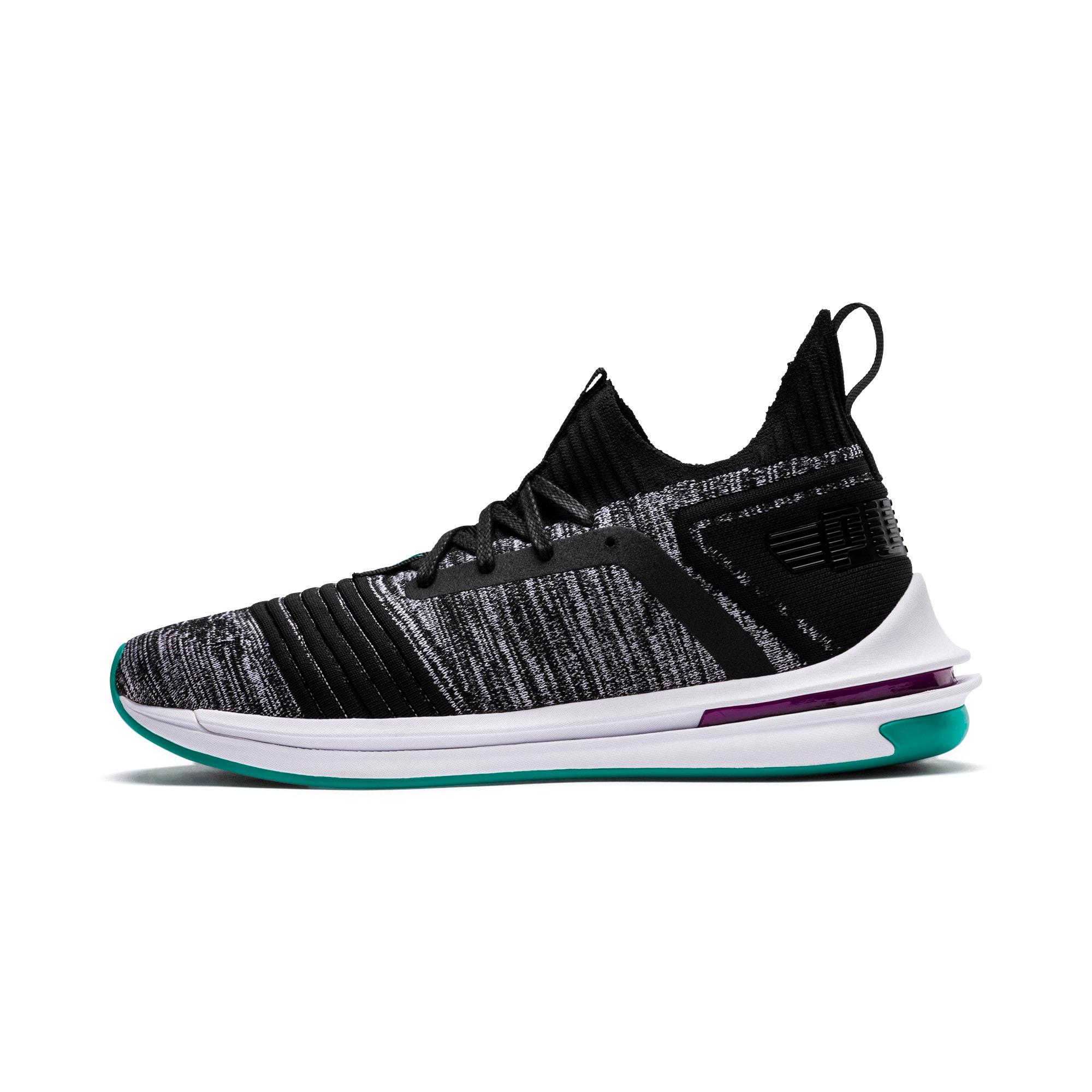 Thumbnail 1 of IGNITE Limitless SR evoKNIT Men's Sneakers, Puma Black-Spectra Green, medium