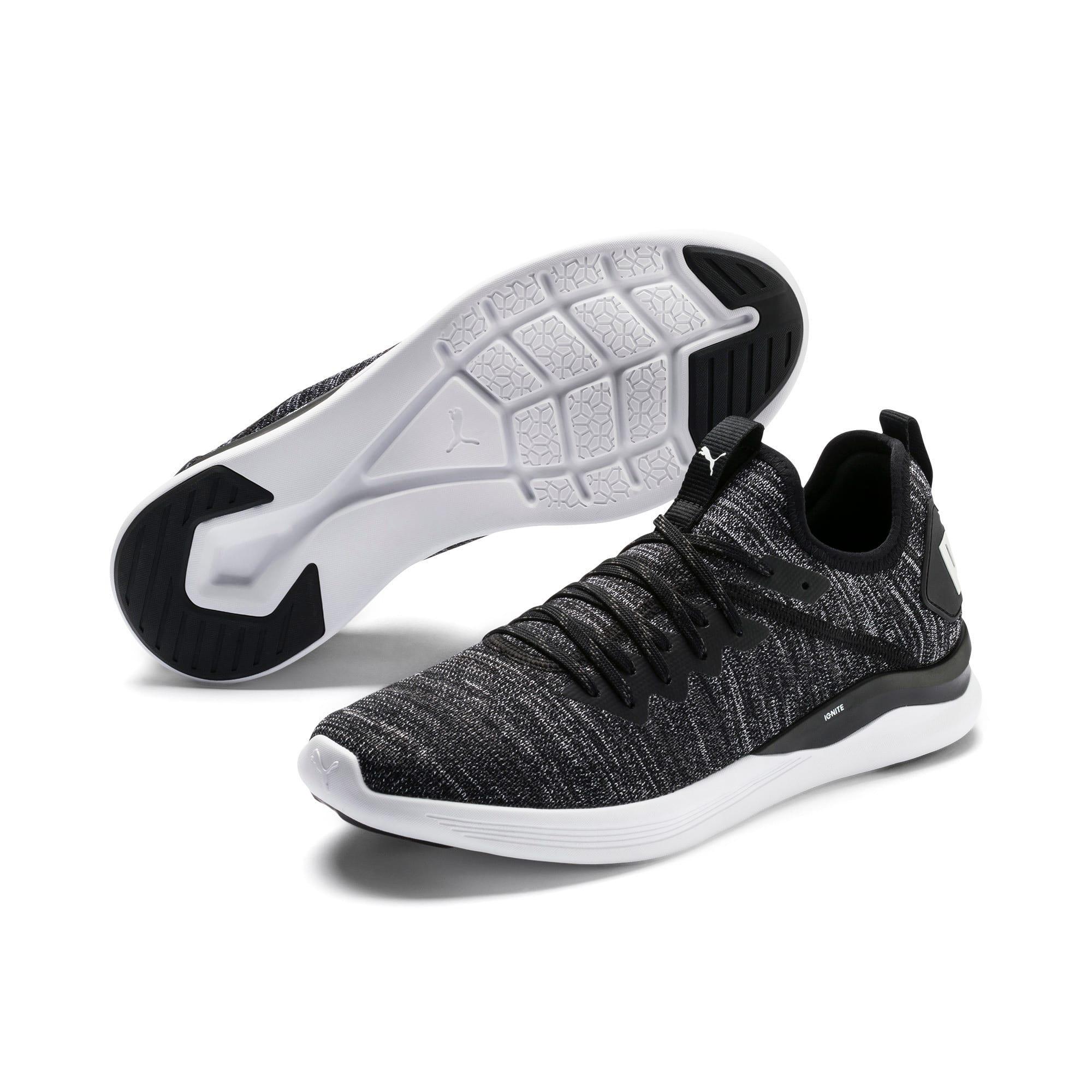 Thumbnail 2 of IGNITE Flash evoKNIT sportschoenen voor heren, Black-Asphalt-White, medium