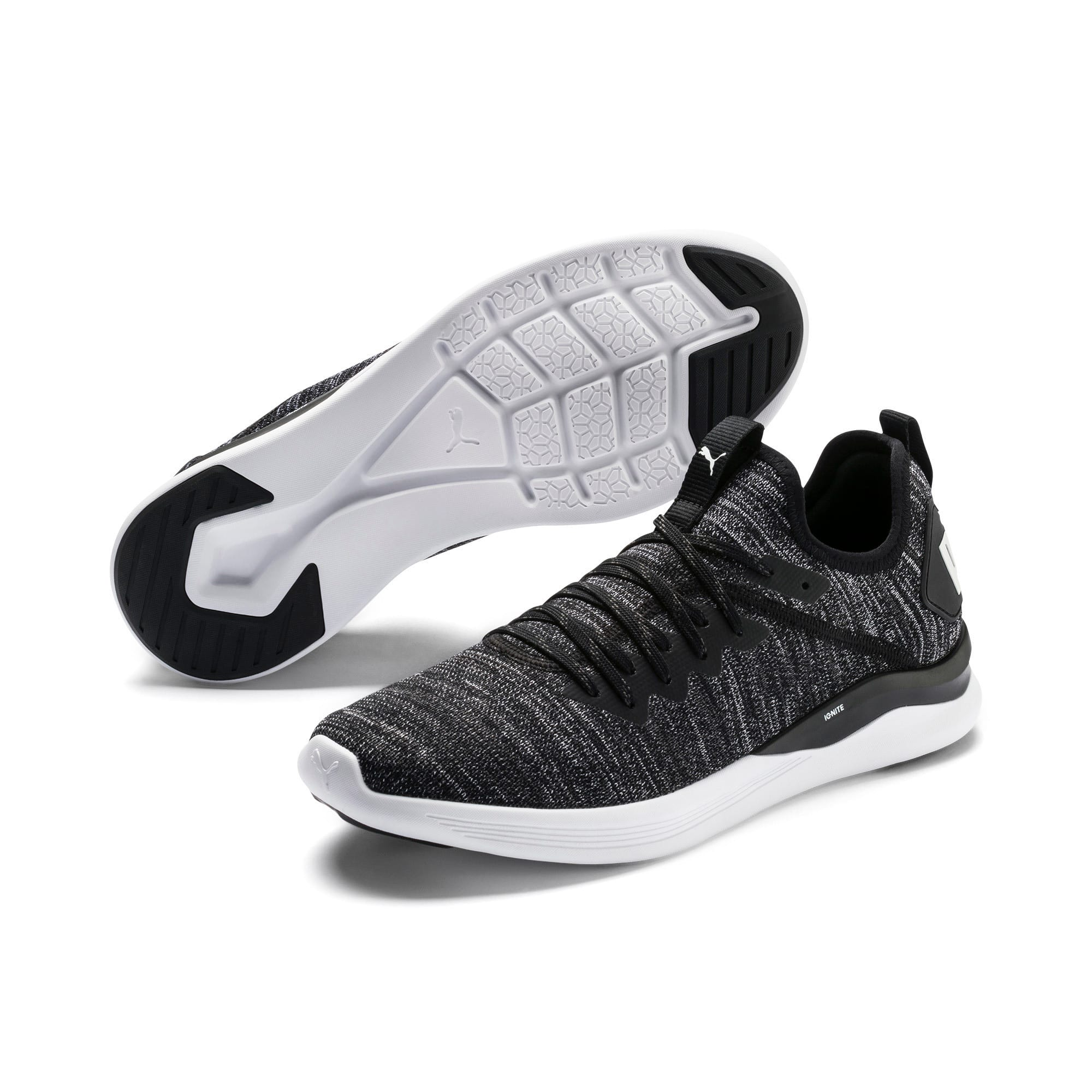 Thumbnail 2 of IGNITE Flash evoKNIT Men's Training Shoes, Black-Asphalt-White, medium-IND