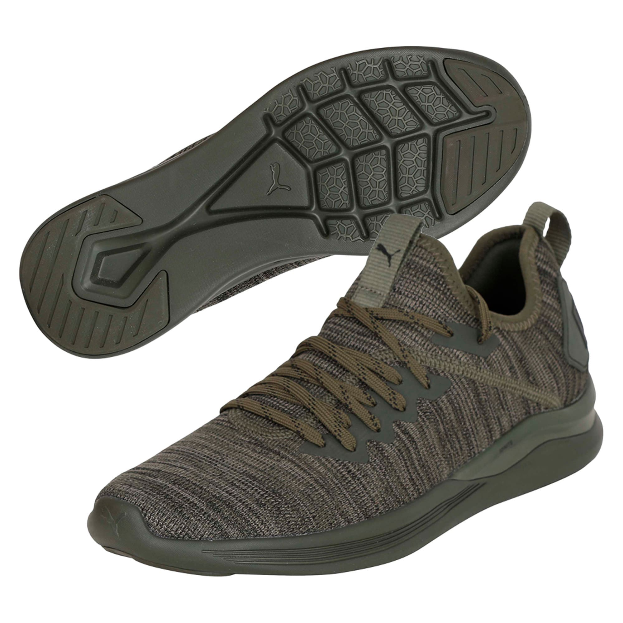 Thumbnail 6 of IGNITE Flash evoKNIT Men's Training Shoes, Forest Night-Gray-Black, medium-IND