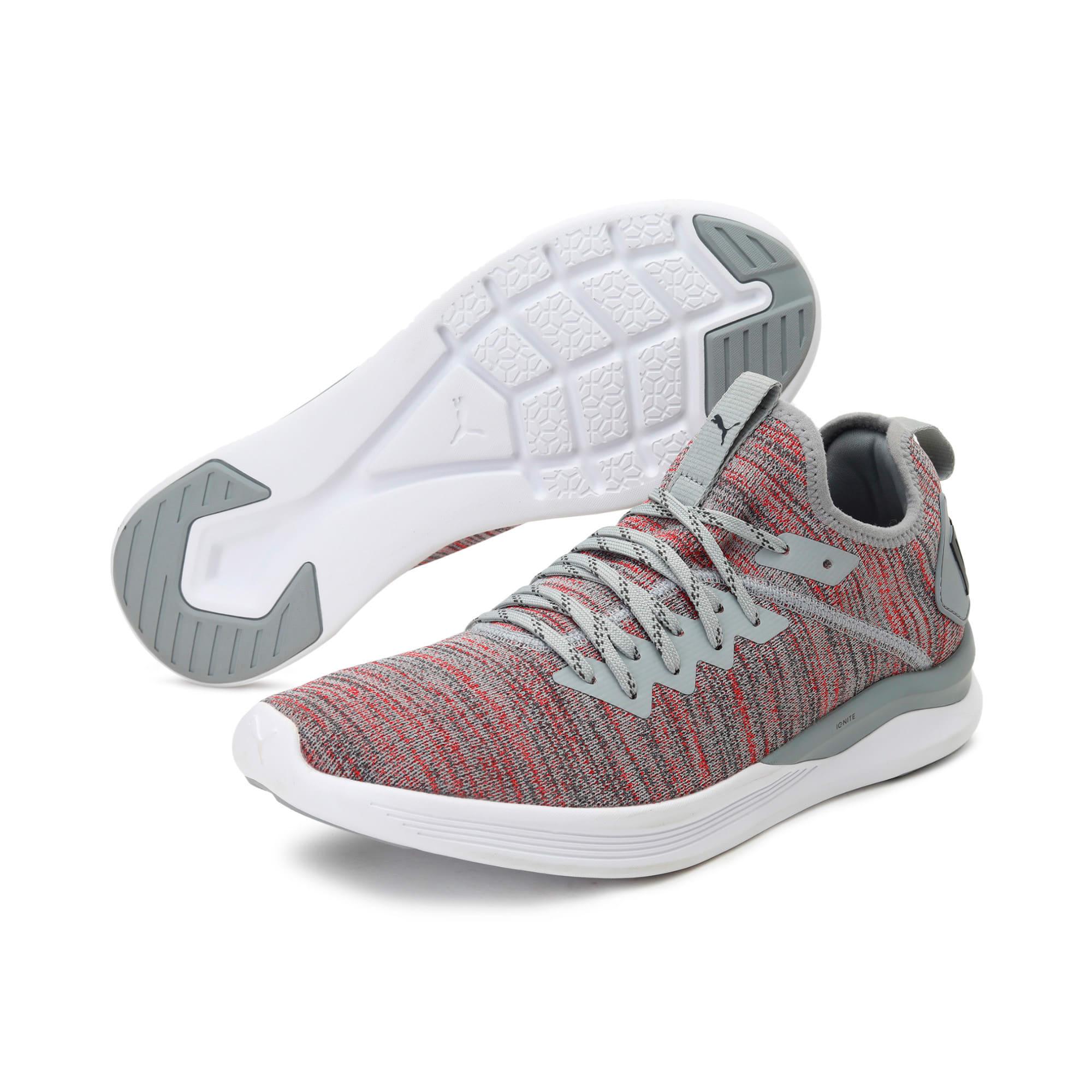 Thumbnail 2 of IGNITE Flash evoKNIT Men's Training Shoes, Quarry-High Risk Red-Asphalt, medium-IND