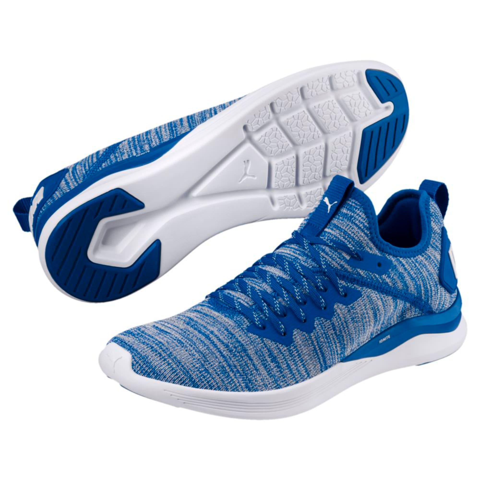Thumbnail 6 of IGNITE Flash evoKNIT Men's Training Shoes, Strong Blue-White, medium-IND