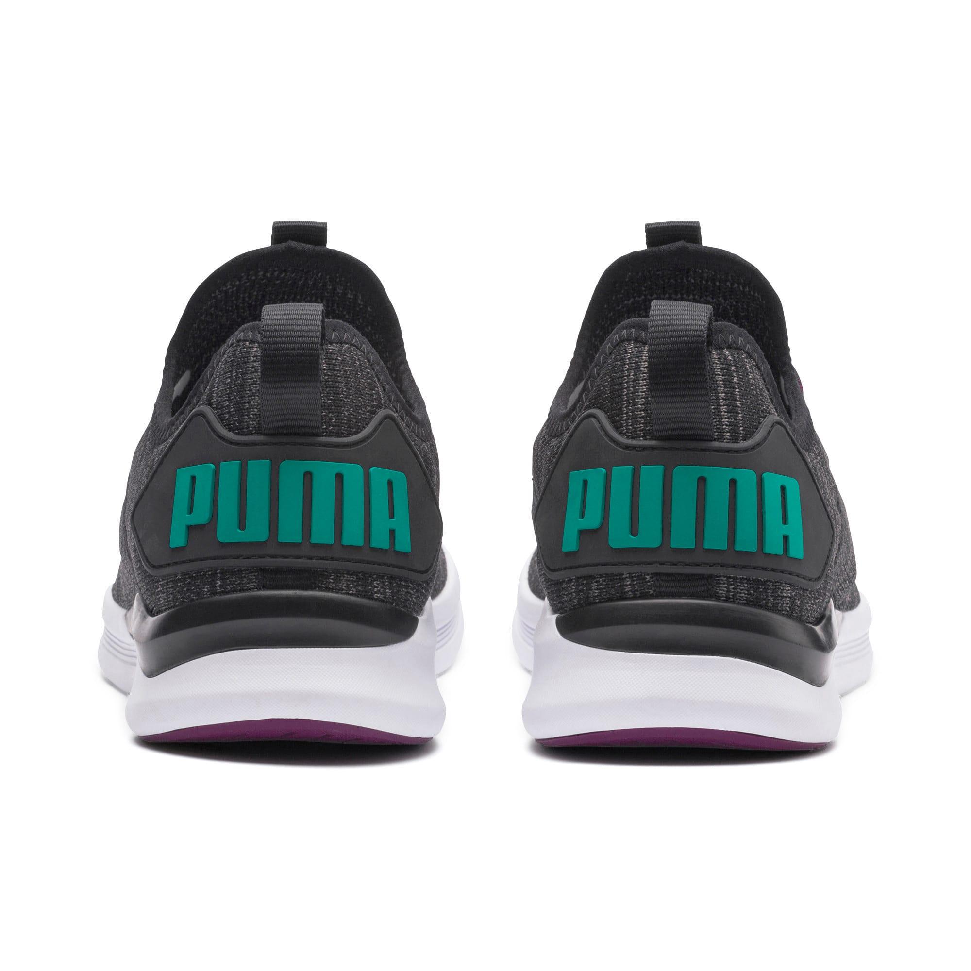 Thumbnail 4 of IGNITE Flash evoKNIT Men's Training Shoes, Black-Dk Shadow-Spectra Grn, medium-IND