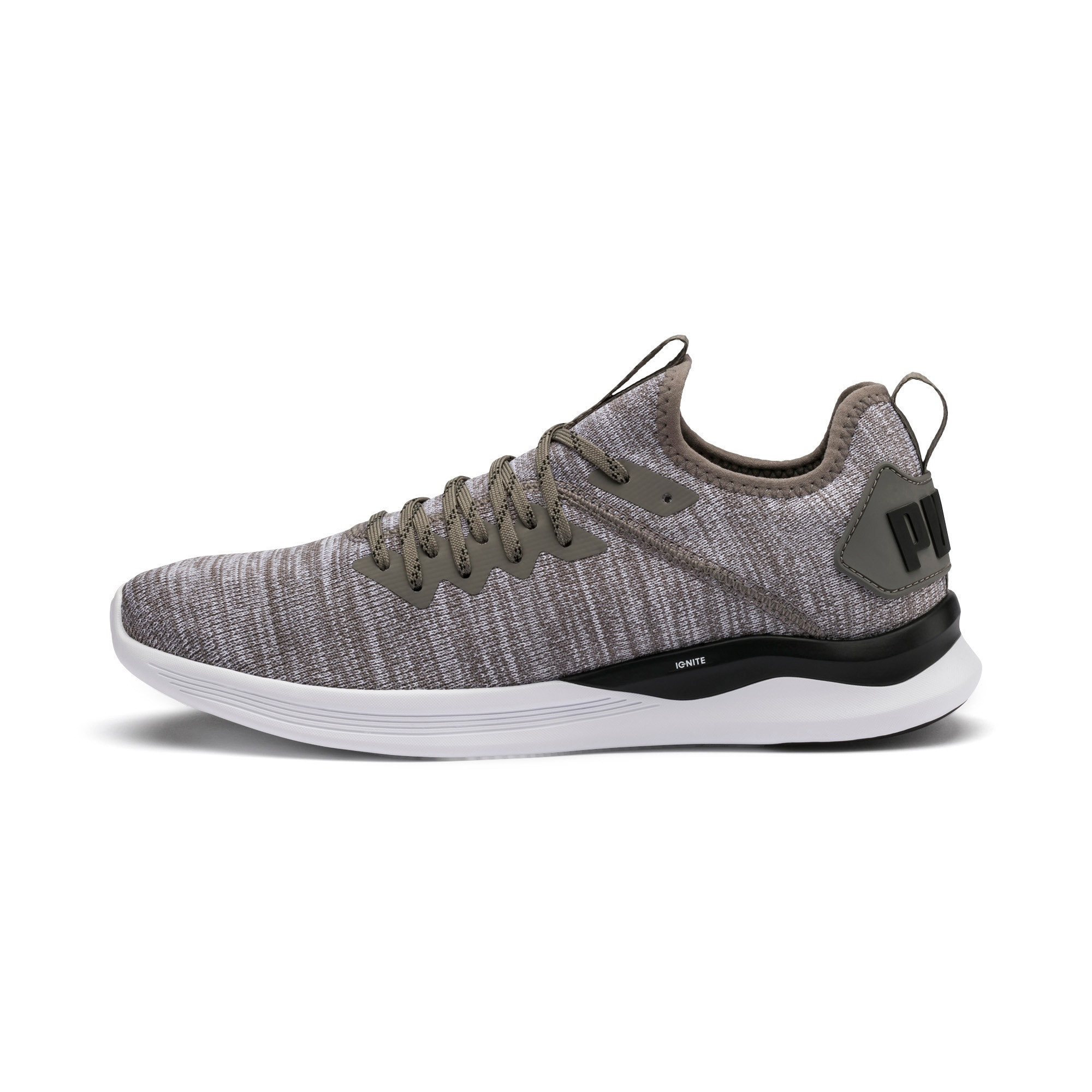 Thumbnail 1 of IGNITE Flash evoKNIT Men's Training Shoes, Steel Gray-Puma Black, medium-IND