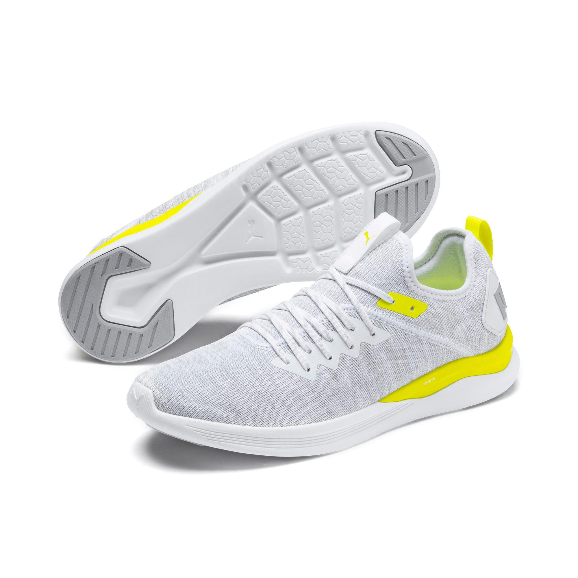 Thumbnail 4 of IGNITE Flash evoKNIT Men's Training Shoes, White-High Rise-Yellow Alert, medium-IND
