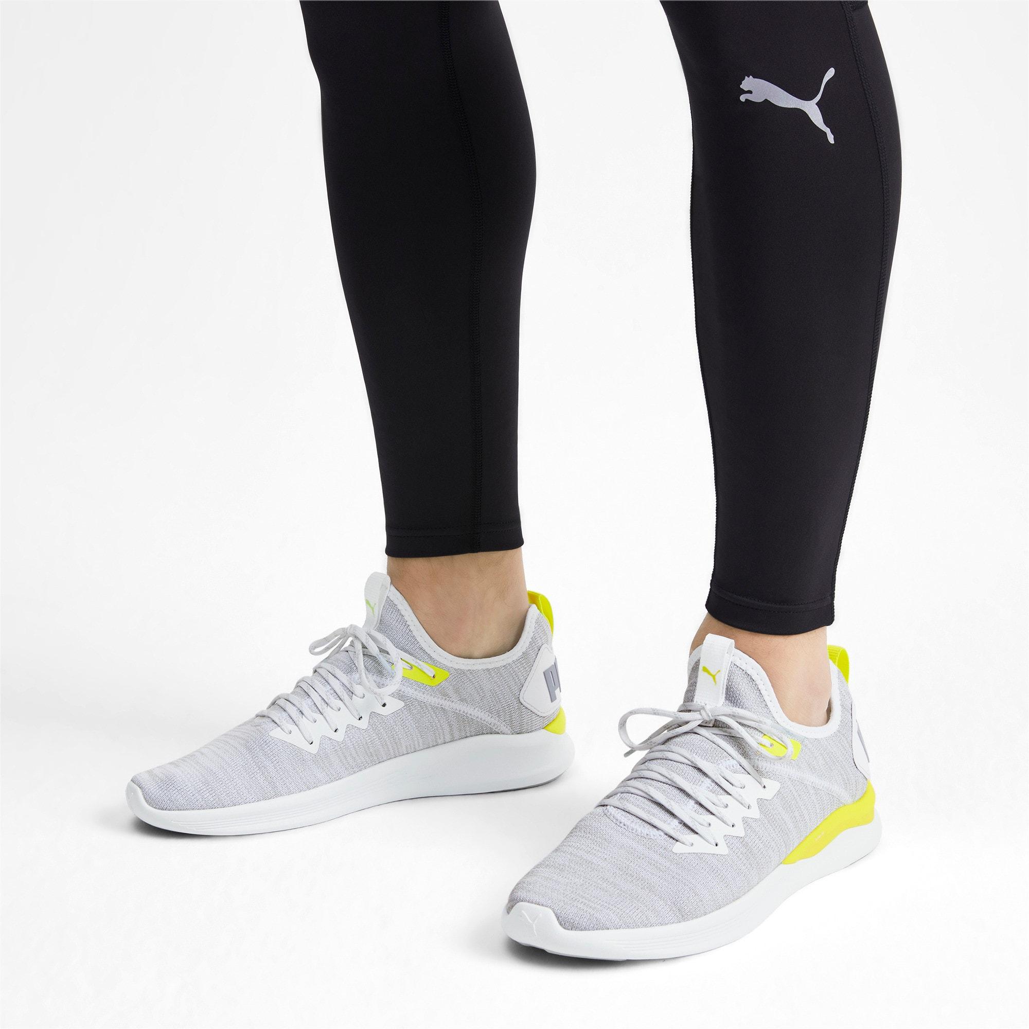 Thumbnail 2 of IGNITE Flash evoKNIT Men's Training Shoes, White-High Rise-Yellow Alert, medium-IND