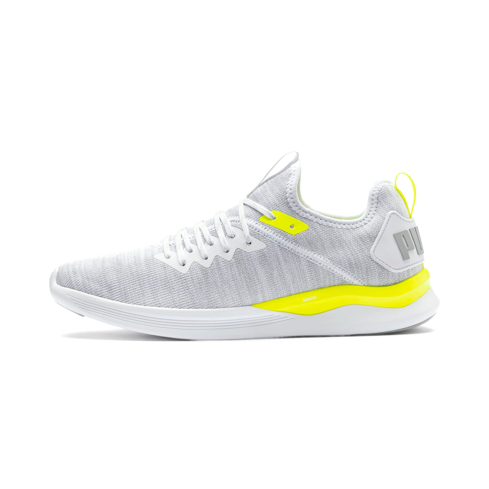 Thumbnail 1 of IGNITE Flash evoKNIT Men's Training Shoes, White-High Rise-Yellow Alert, medium-IND