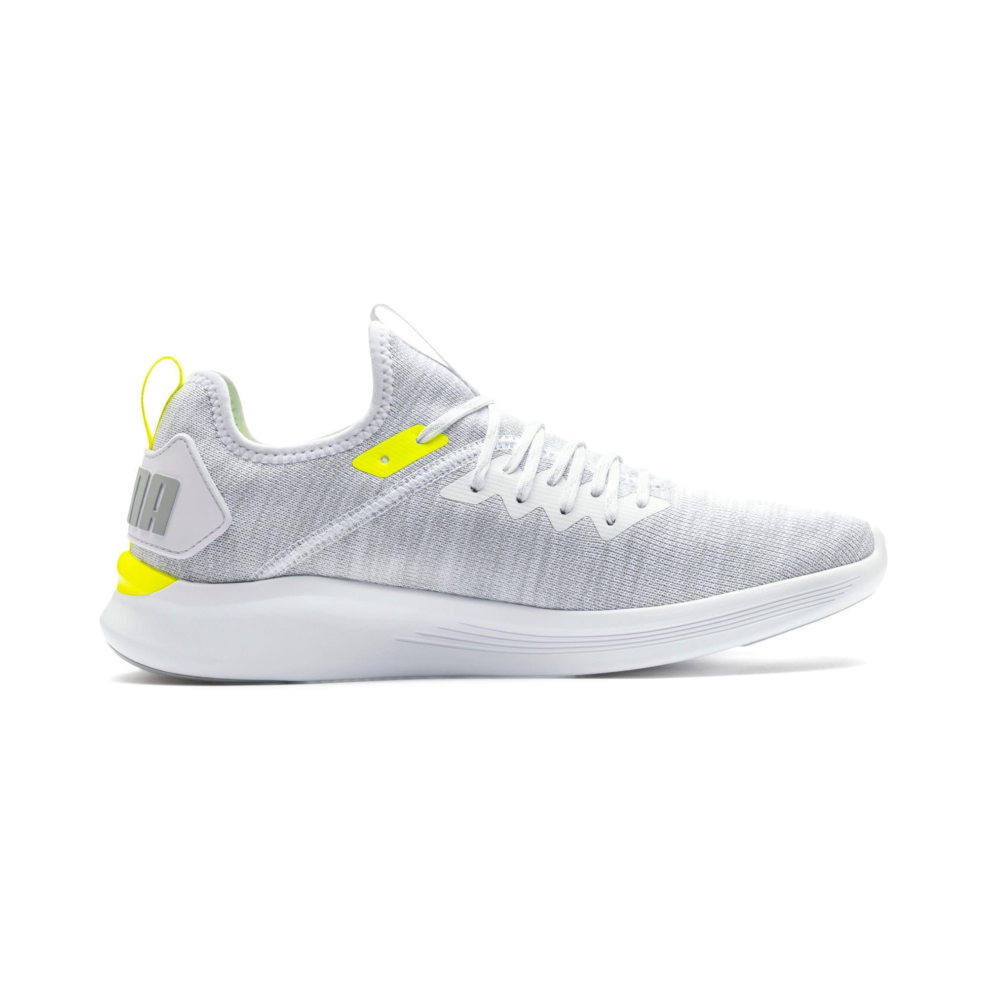 Thumbnail 3 of IGNITE Flash evoKNIT Men's Training Shoes, White-High Rise-Yellow Alert, medium-IND