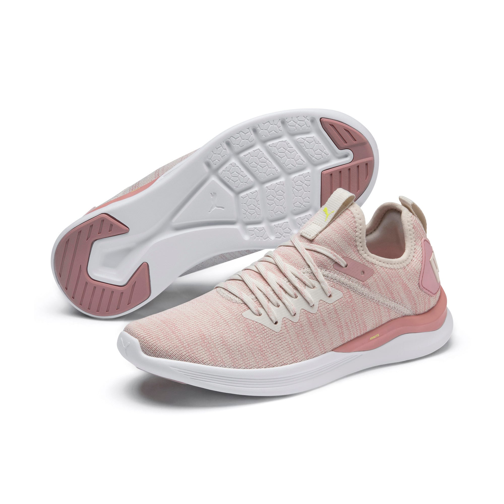Thumbnail 3 of IGNITE Flash evoKNIT Women's Running Shoes, Pastel Parchment-Bridal Rose, medium