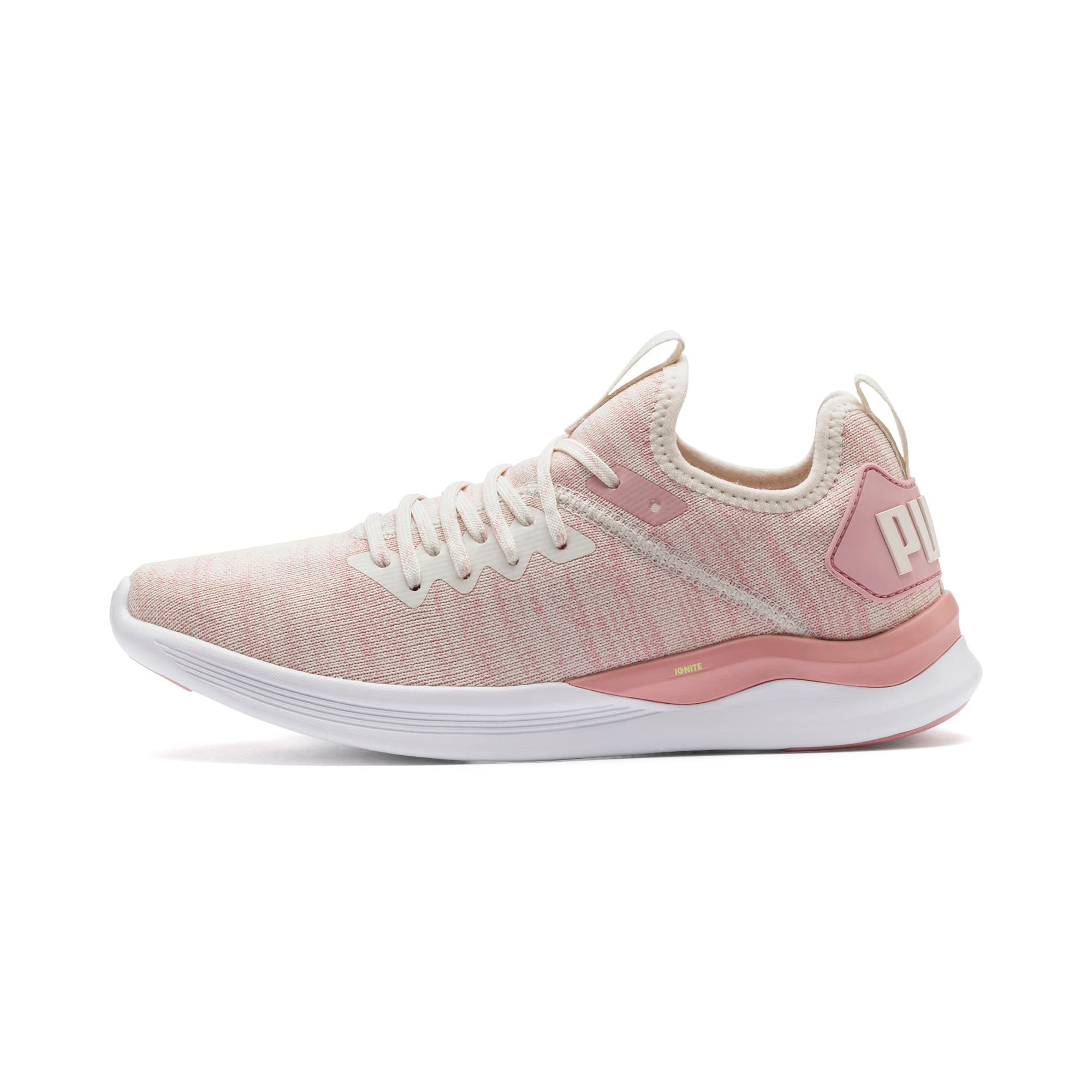 Thumbnail 1 of IGNITE Flash evoKNIT Women's Running Shoes, Pastel Parchment-Bridal Rose, medium