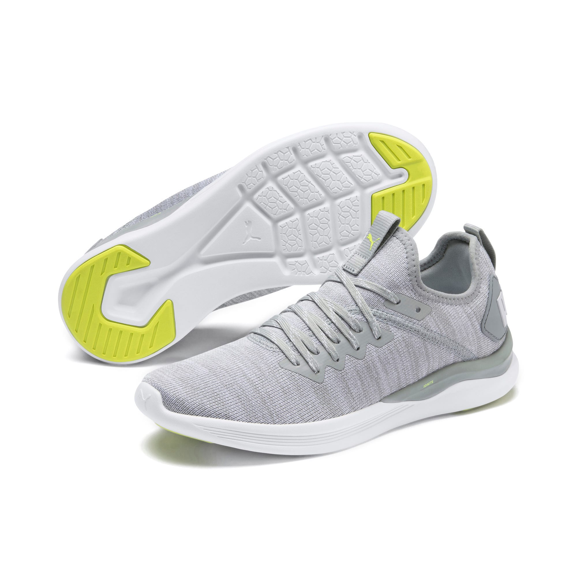 Thumbnail 3 of IGNITE Flash evoKNIT Women's Running Shoes, Quarry-White-Milky Blue, medium