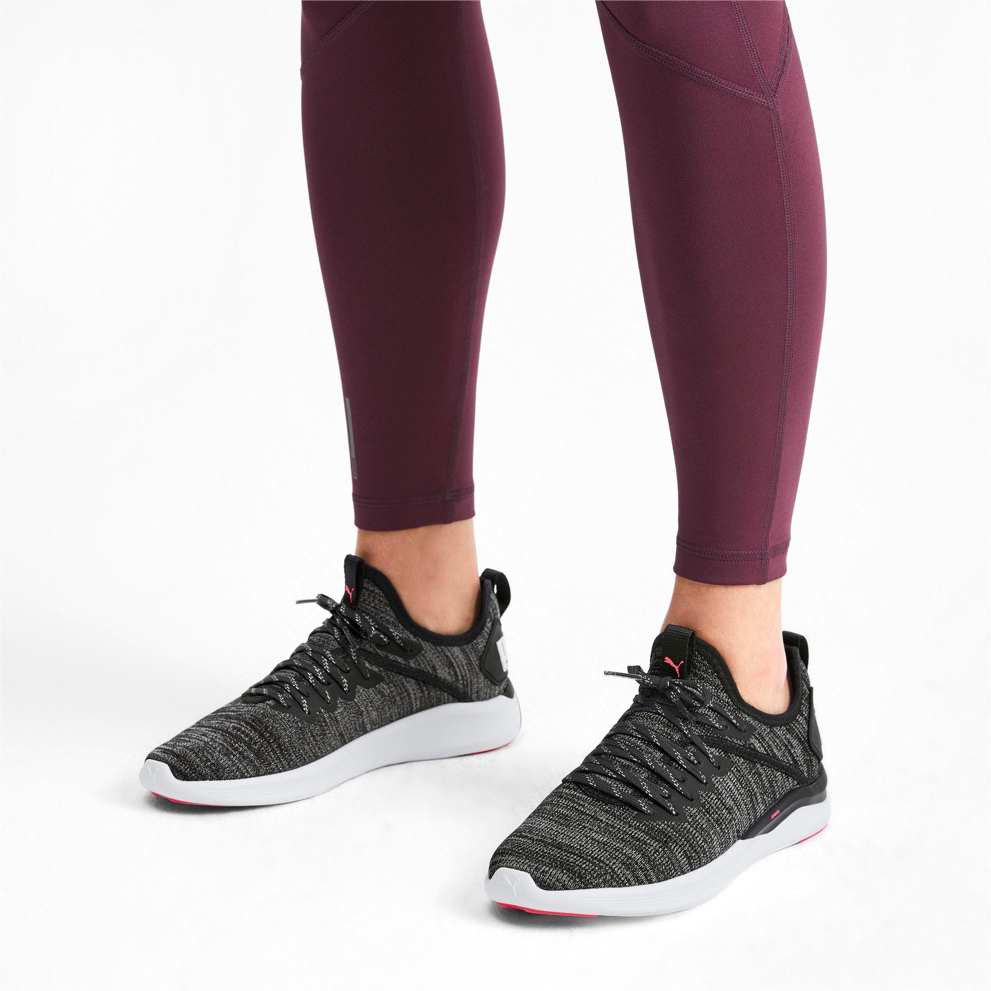 Thumbnail 2 of IGNITE Flash evoKNIT Women's Running Shoes, Black-White-Pink Alert, medium