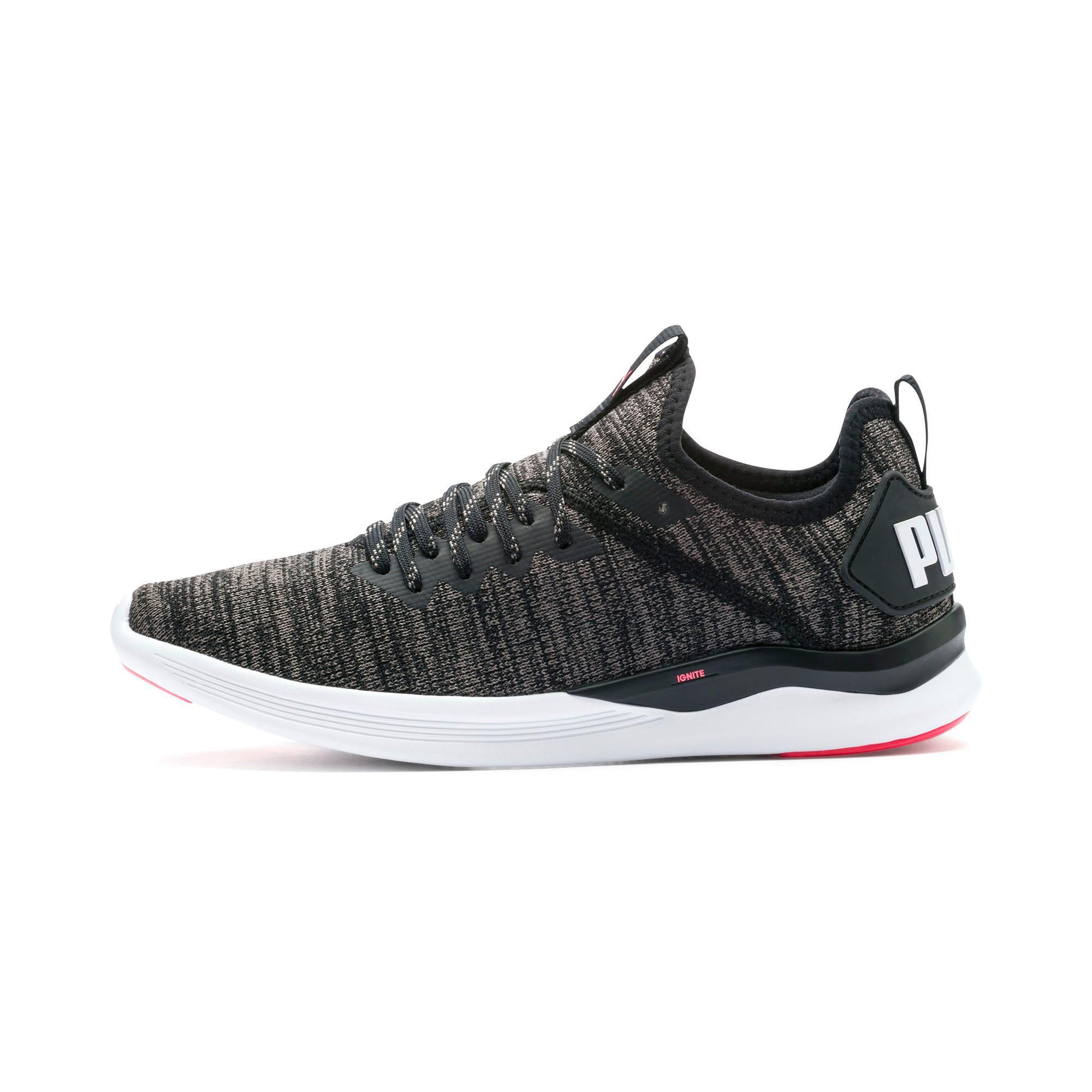 Thumbnail 1 of IGNITE Flash evoKNIT Women's Running Shoes, Black-White-Pink Alert, medium