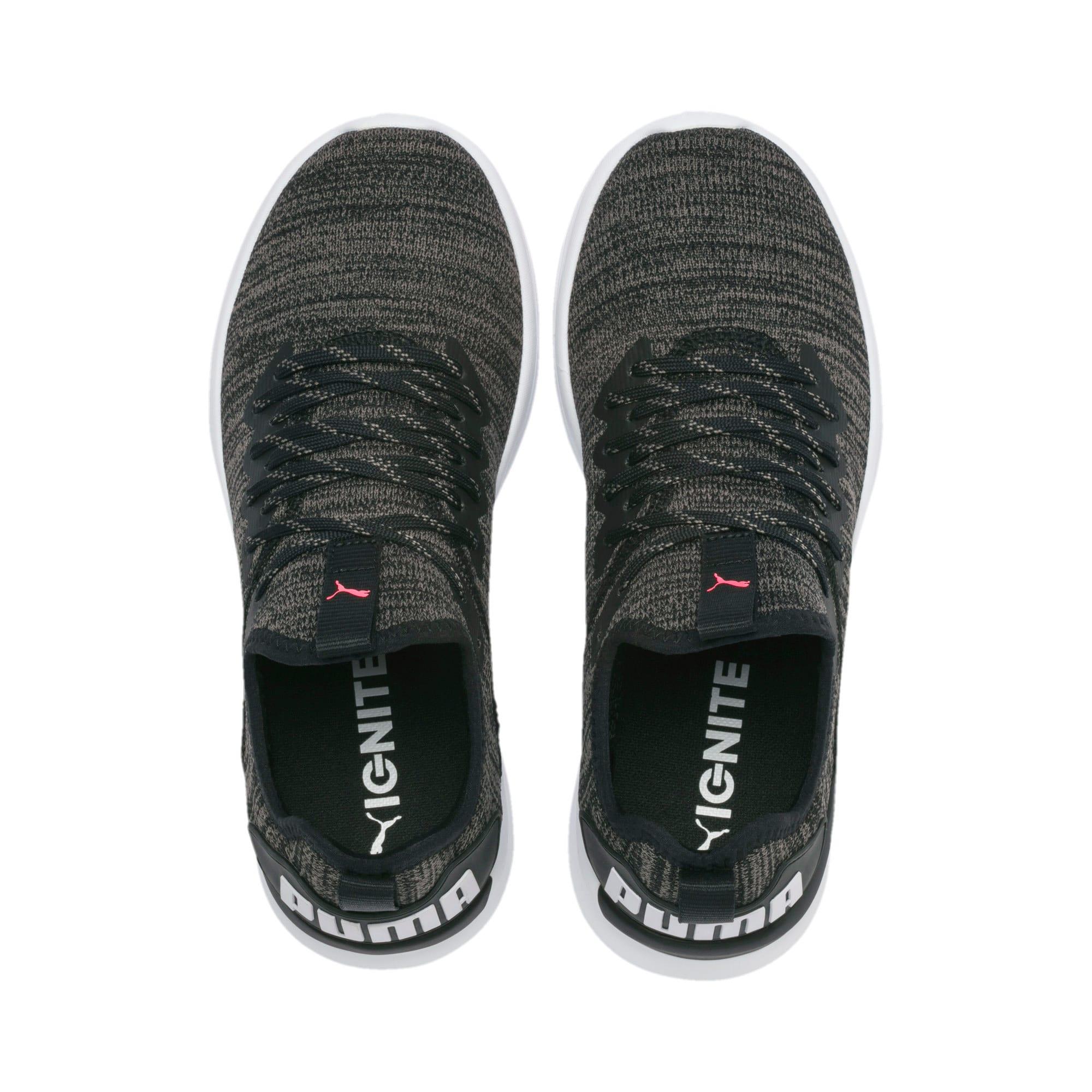 Thumbnail 7 of IGNITE Flash evoKNIT Women's Running Shoes, Black-White-Pink Alert, medium
