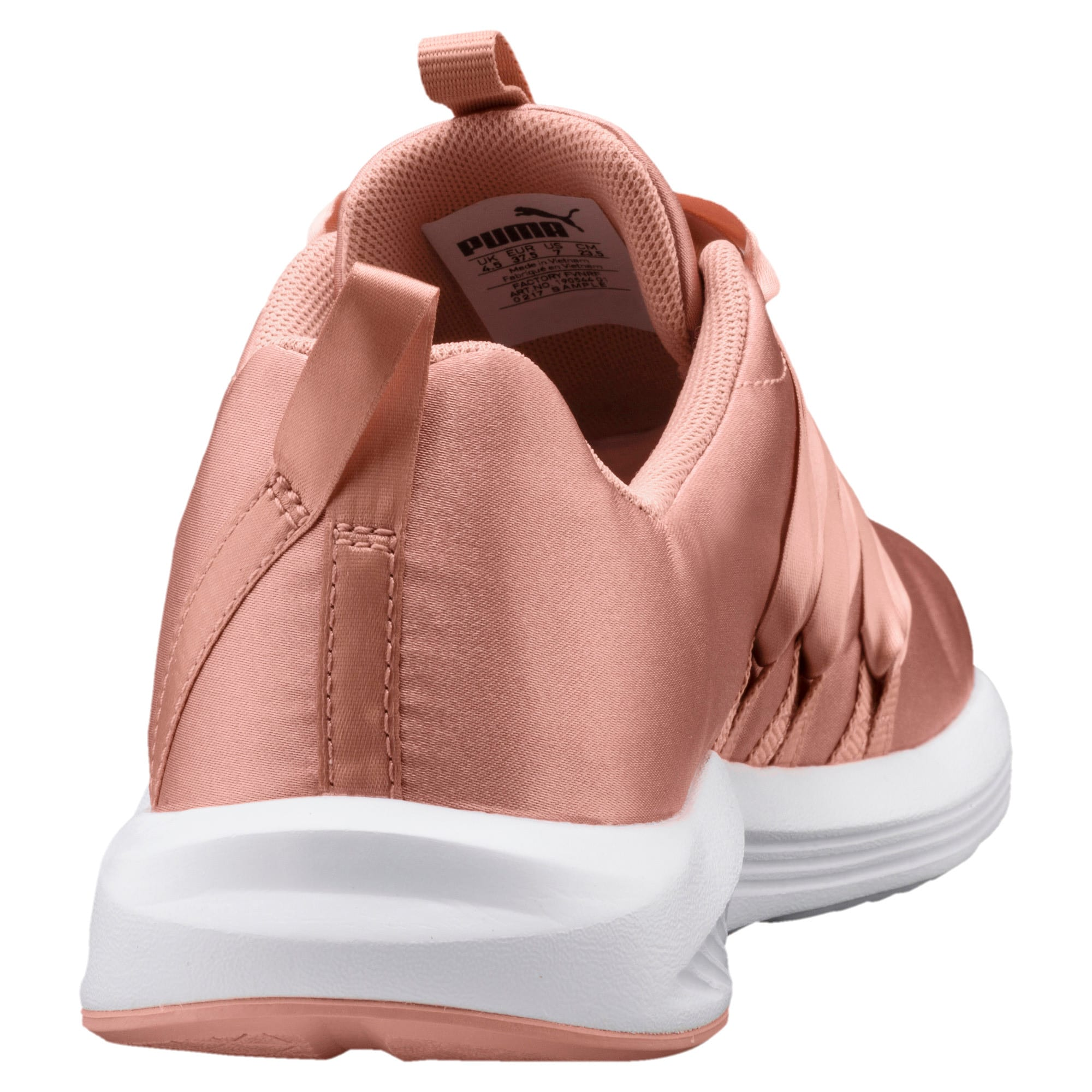 Thumbnail 4 of Prowl Alt Satin Women's Training Shoes, Peach Beige-Puma White, medium-IND