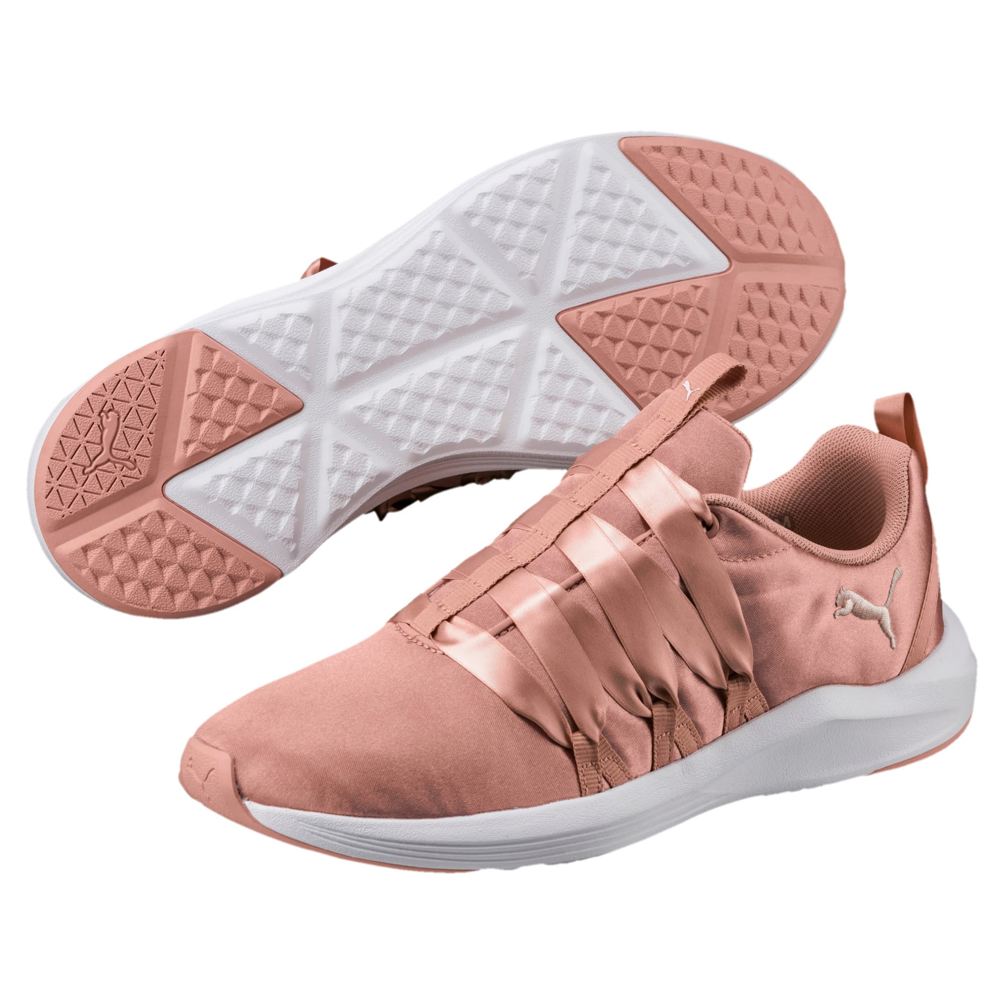 Thumbnail 2 of Prowl Alt Satin Women's Training Shoes, Peach Beige-Puma White, medium-IND