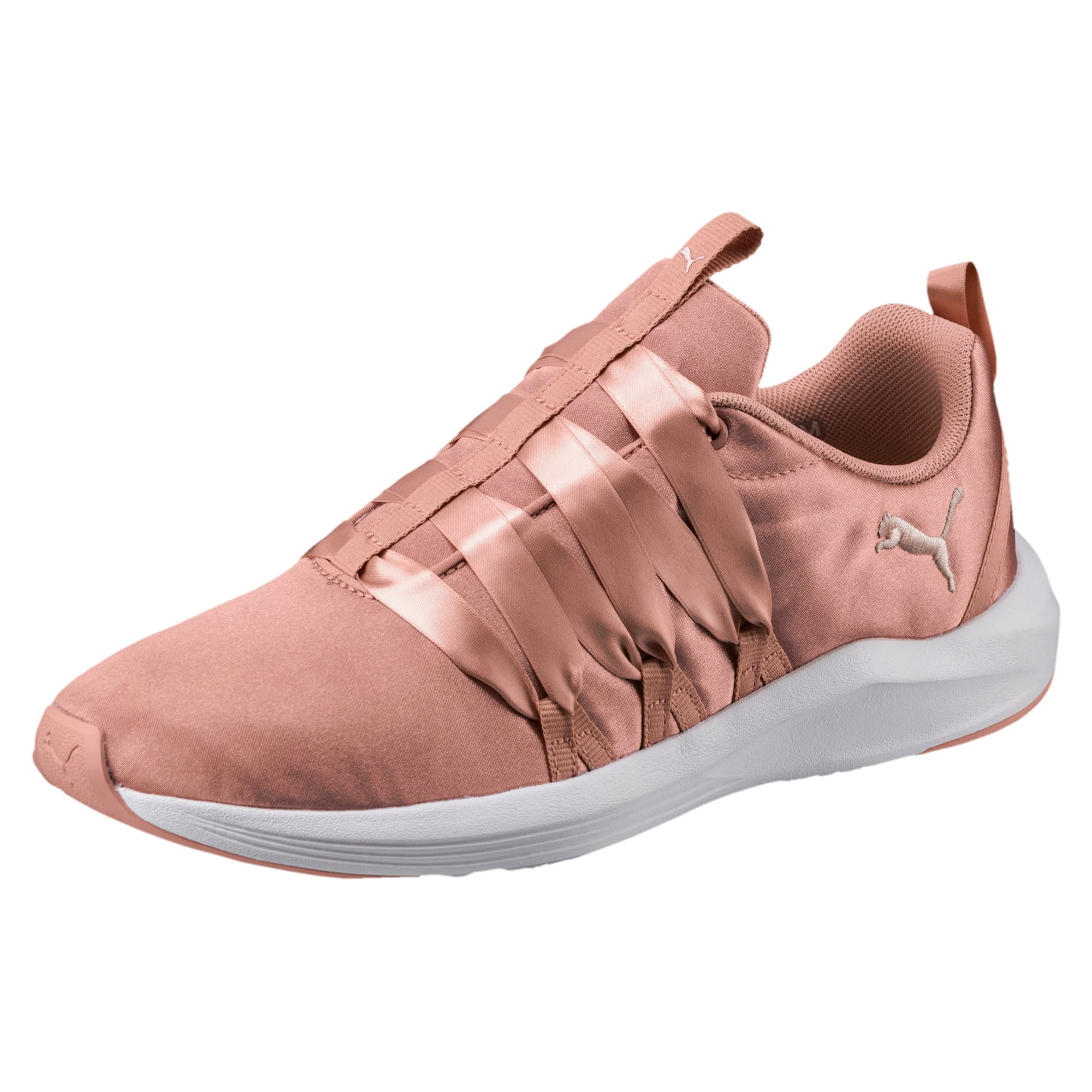 Thumbnail 1 of Prowl Alt Satin Women's Training Shoes, Peach Beige-Puma White, medium-IND