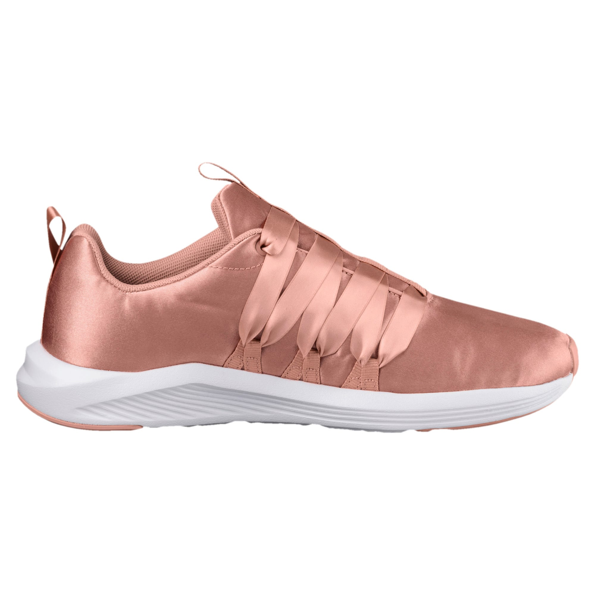 Thumbnail 3 of Prowl Alt Satin Women's Training Shoes, Peach Beige-Puma White, medium-IND