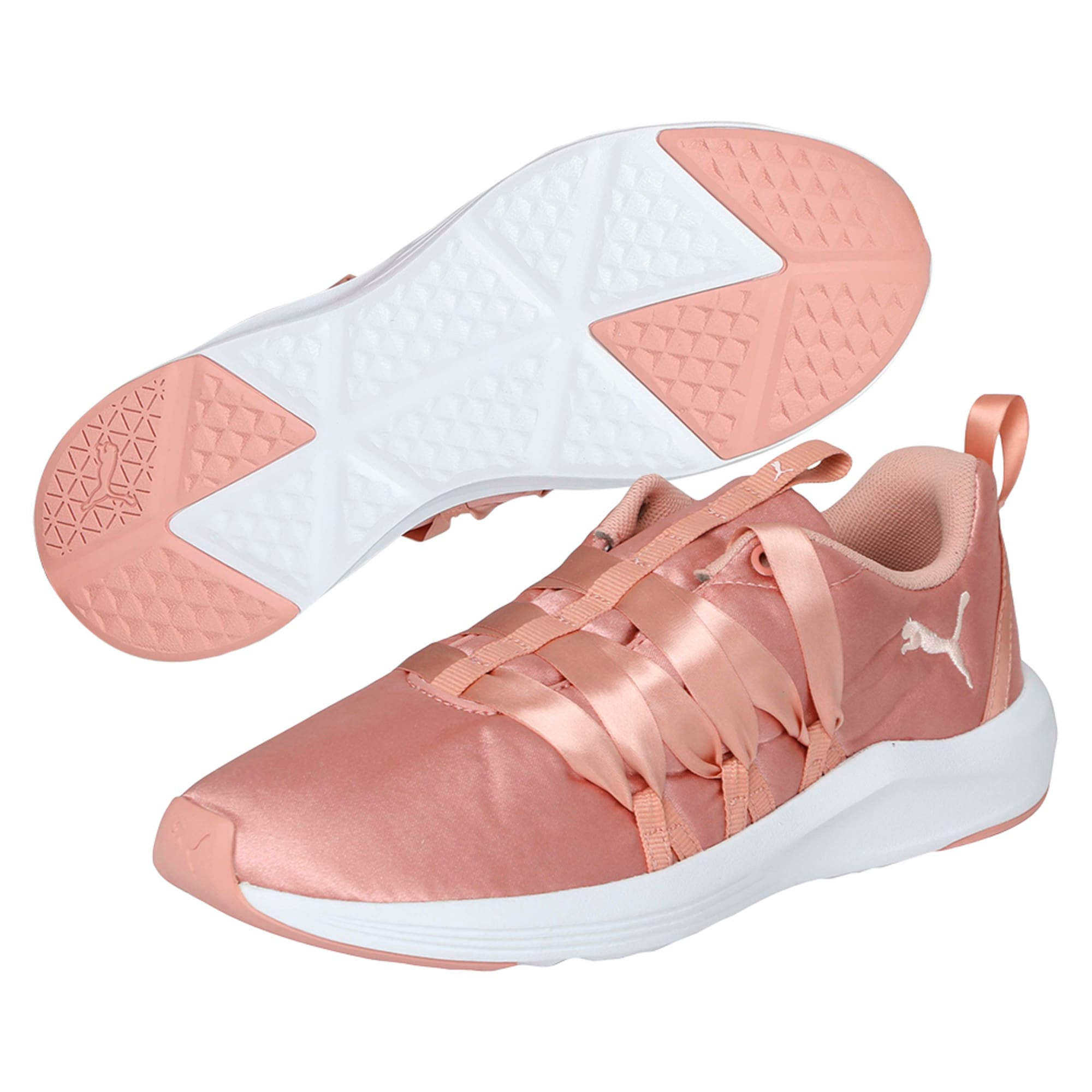 Thumbnail 6 of Prowl Alt Satin Women's Training Shoes, Peach Beige-Puma White, medium-IND