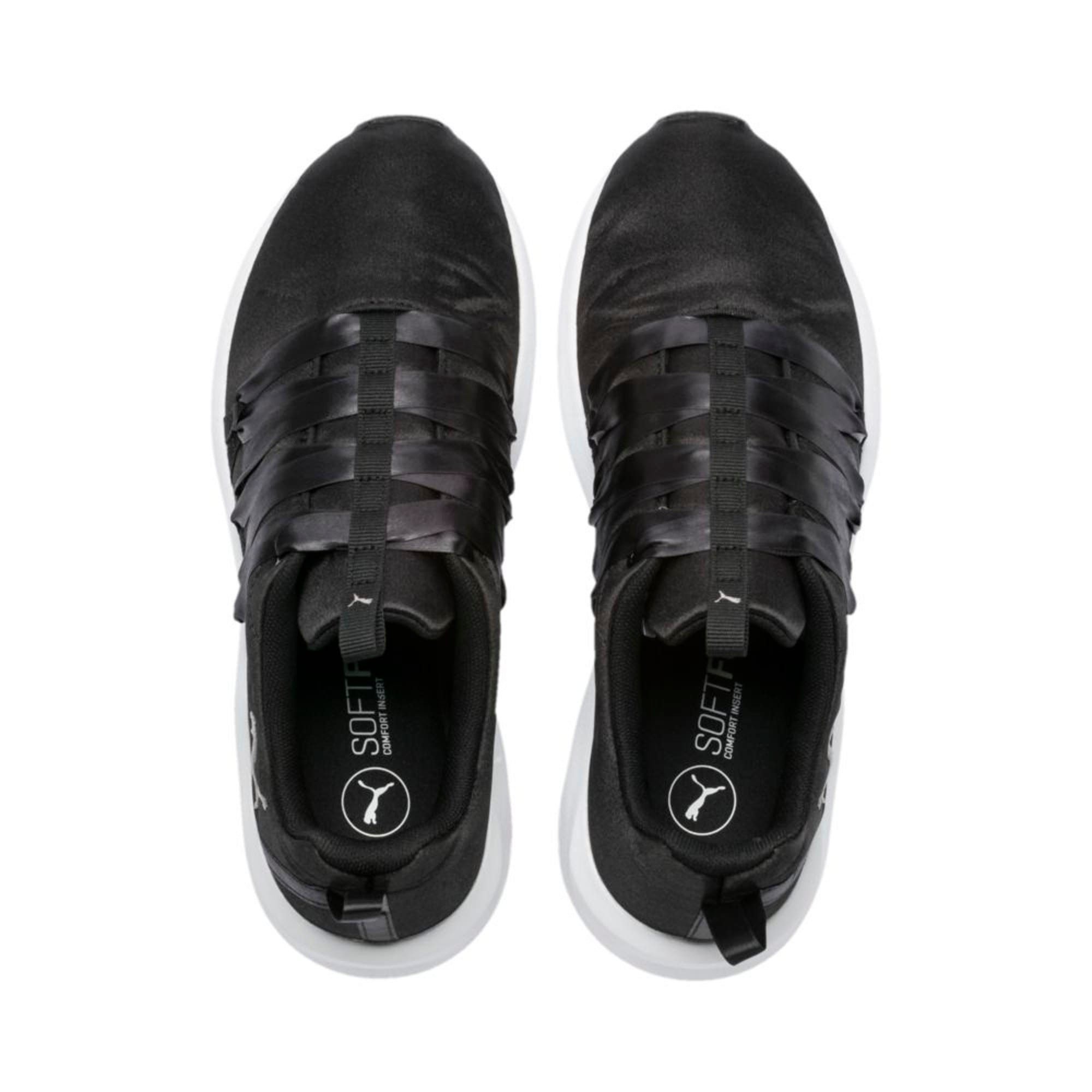 Thumbnail 3 of Prowl Alt Satin Women's Training Shoes, Puma Black-Puma White, medium-IND