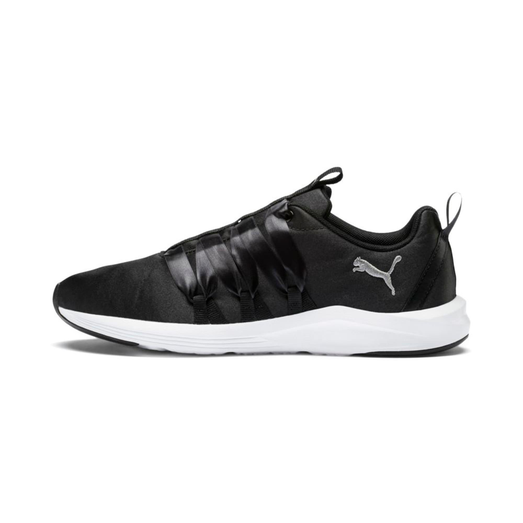 Thumbnail 1 of Prowl Alt Satin Women's Training Shoes, Puma Black-Puma White, medium-IND