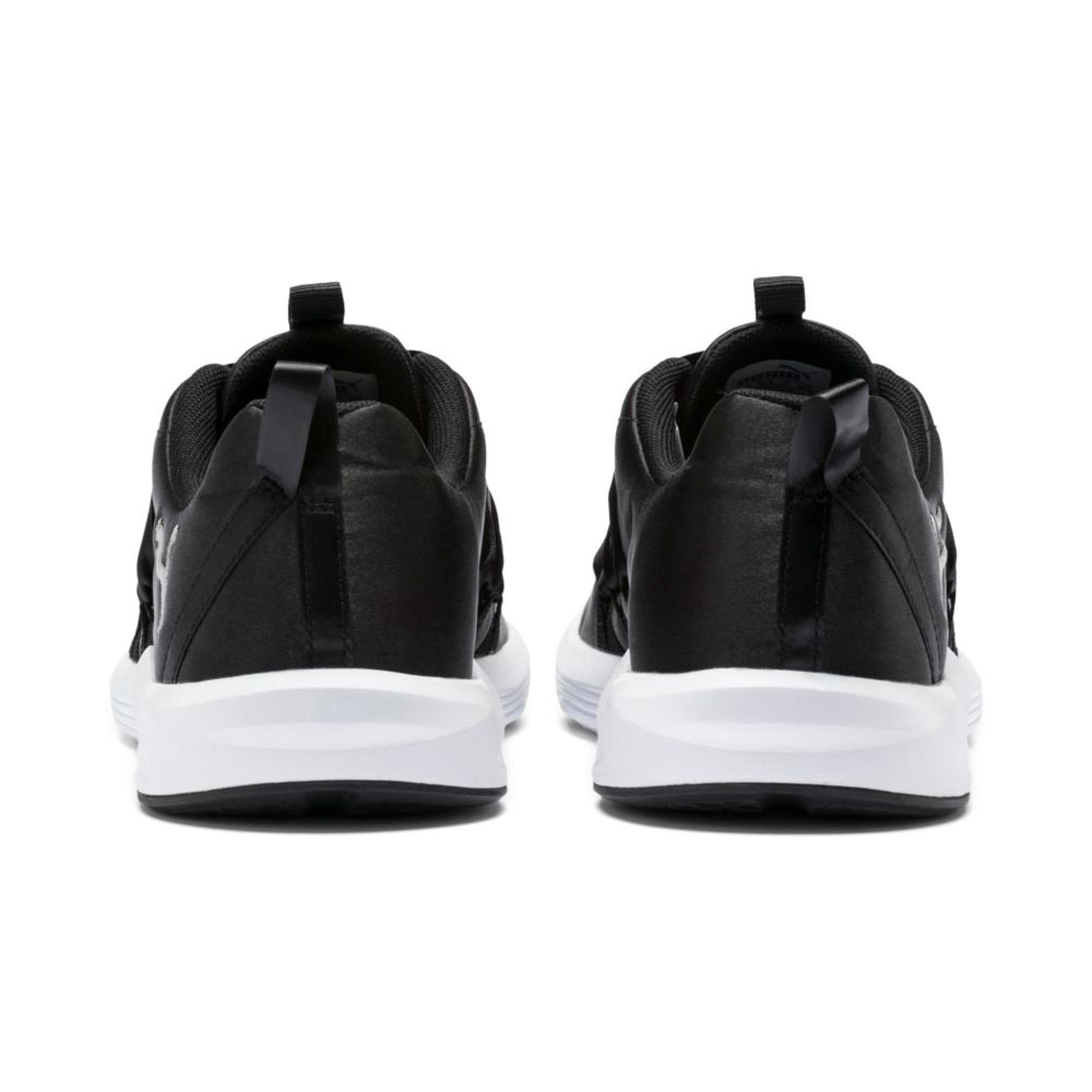 Thumbnail 4 of Prowl Alt Satin Women's Training Shoes, Puma Black-Puma White, medium-IND