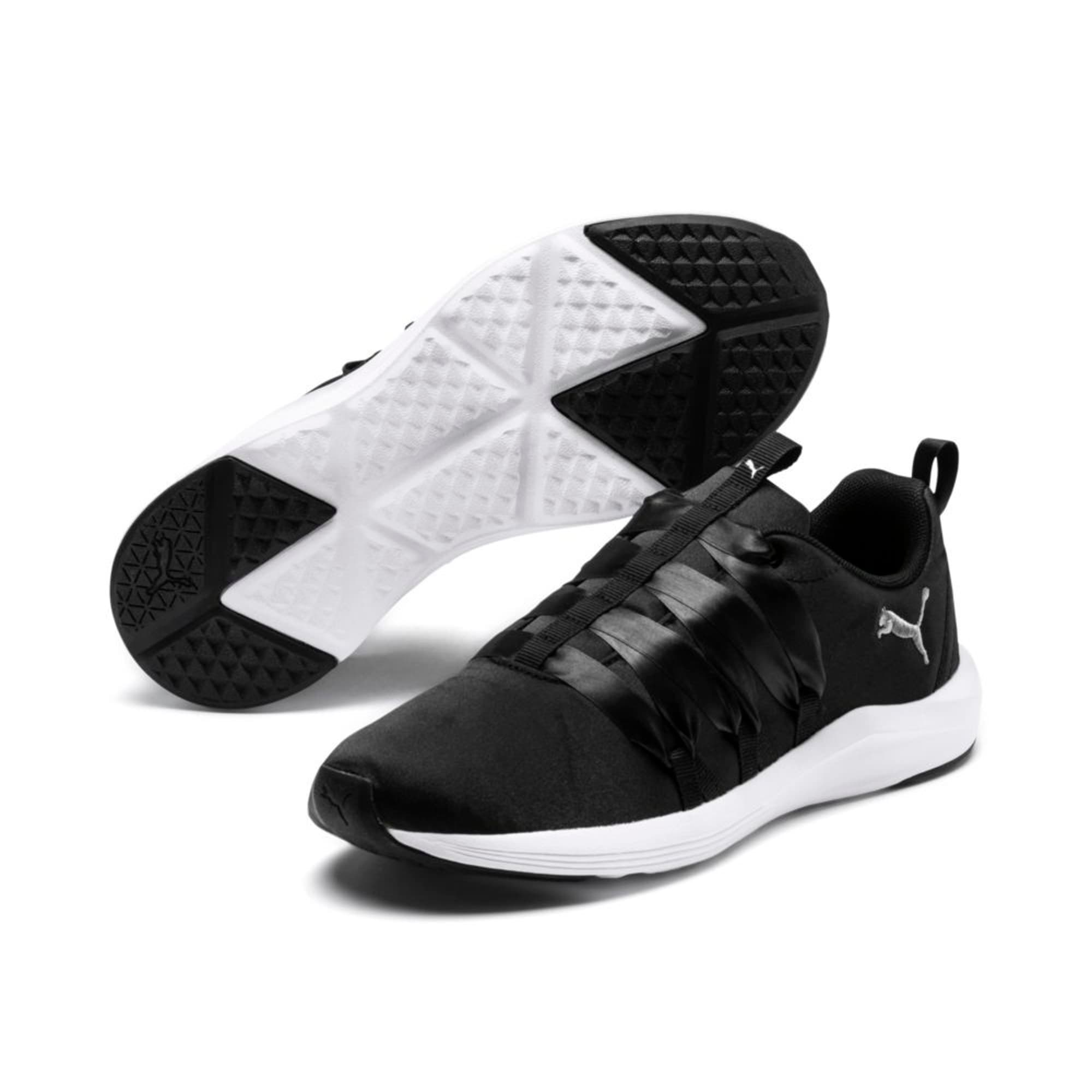 Thumbnail 6 of Prowl Alt Satin Women's Training Shoes, Puma Black-Puma White, medium-IND