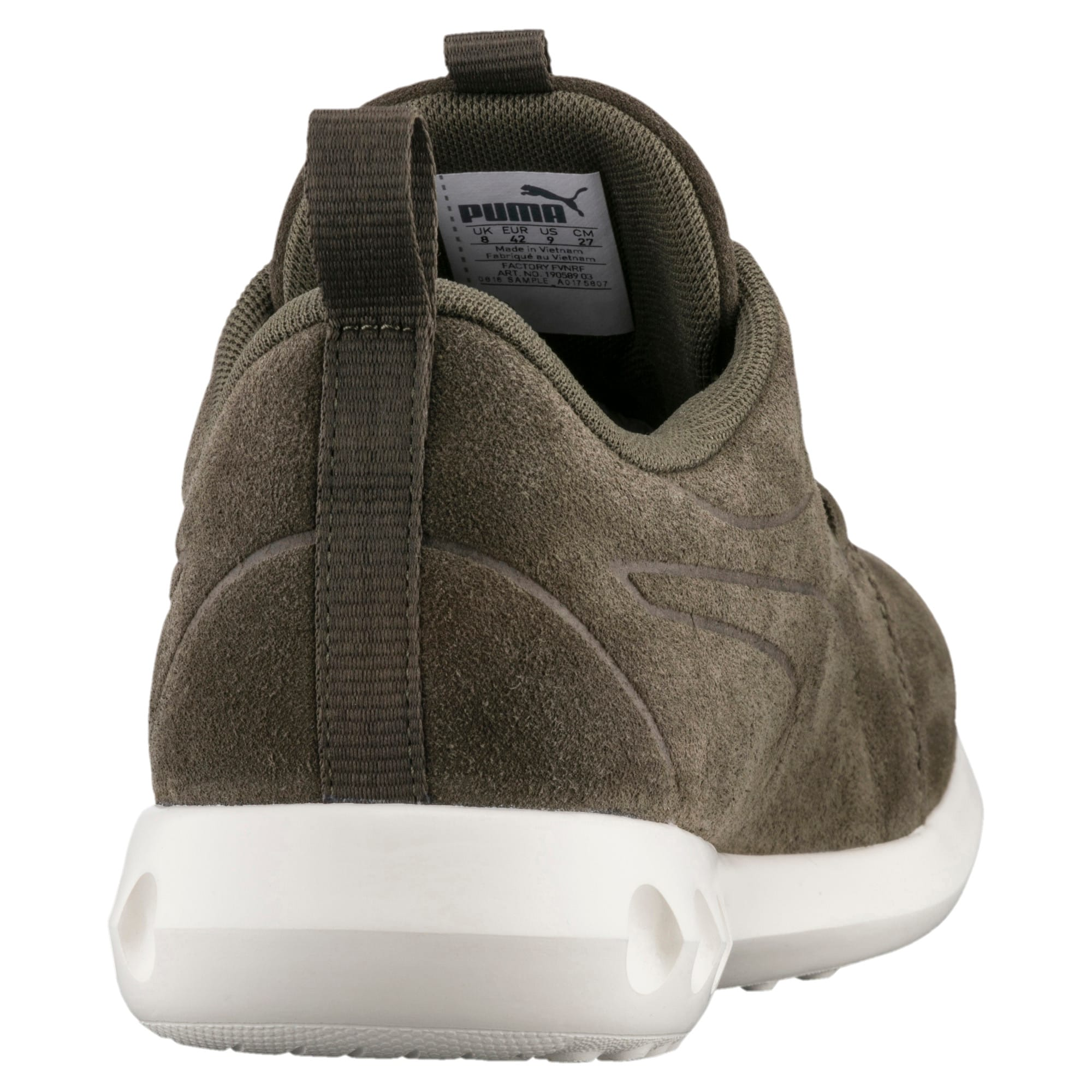 Thumbnail 3 of Carson 2 Moulded Suede Trainers, Olive Night-Whisper White, medium-IND