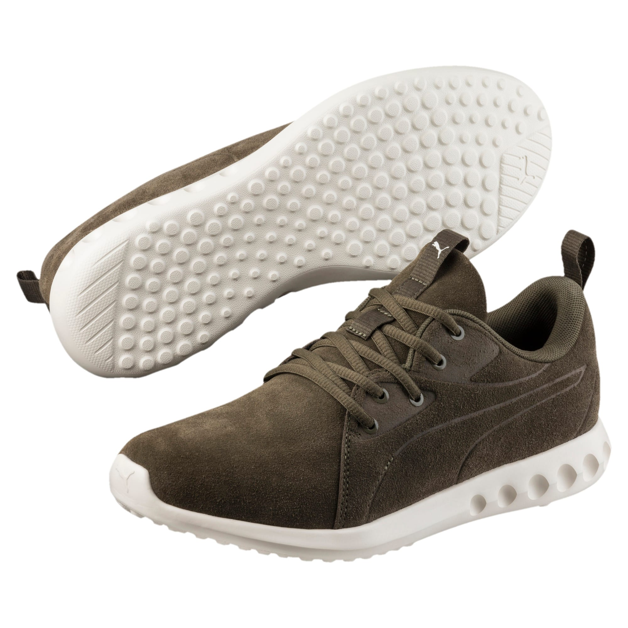 Thumbnail 2 of Carson 2 Moulded Suede Trainers, Olive Night-Whisper White, medium-IND