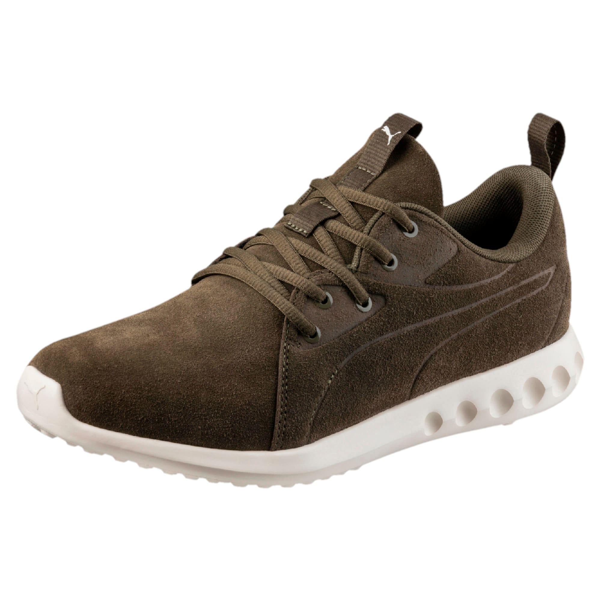 Thumbnail 1 of Carson 2 Moulded Suede Trainers, Olive Night-Whisper White, medium-IND