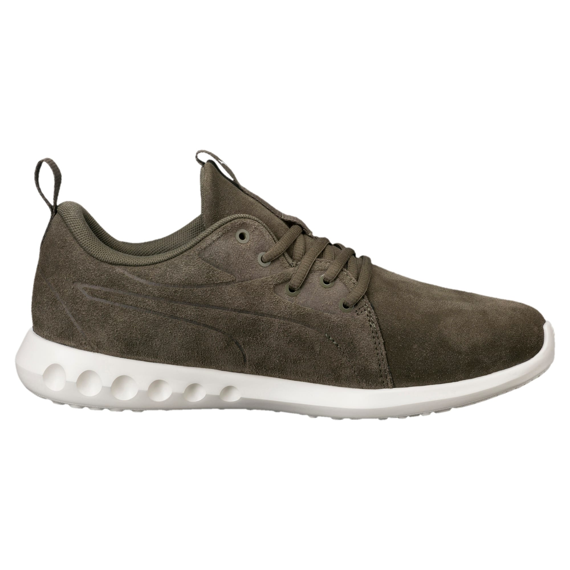 Thumbnail 4 of Carson 2 Moulded Suede Trainers, Olive Night-Whisper White, medium-IND